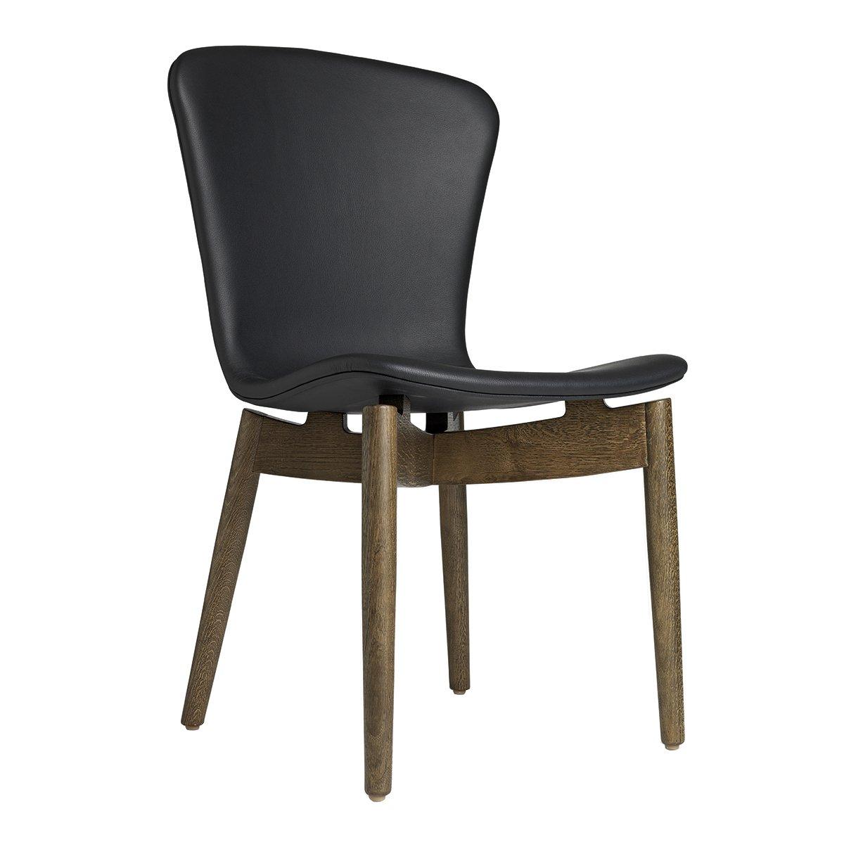 Mater Shell Dining Chair Eetkamerstoel - Ultra Black/Sirka Grey Gebeitst