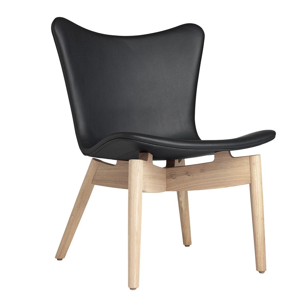 Mater Shell Lounge Chair - Ultra Black/Mat Gelakt