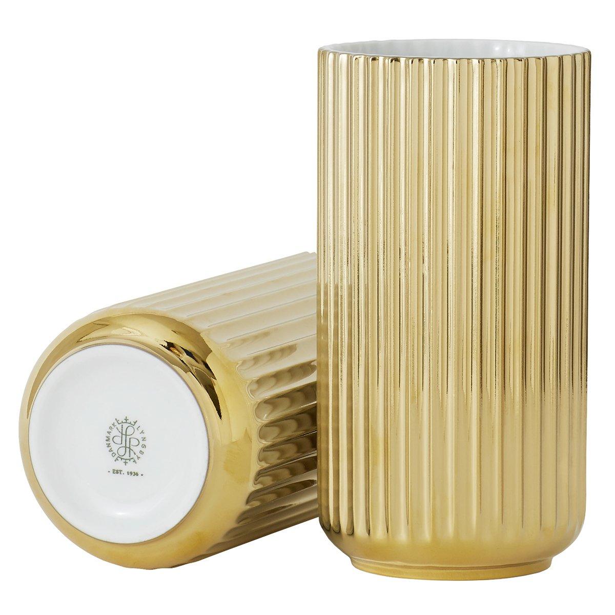 Lyngby Porcel�n Lyngby Vaas Gold - 20,5 cm.