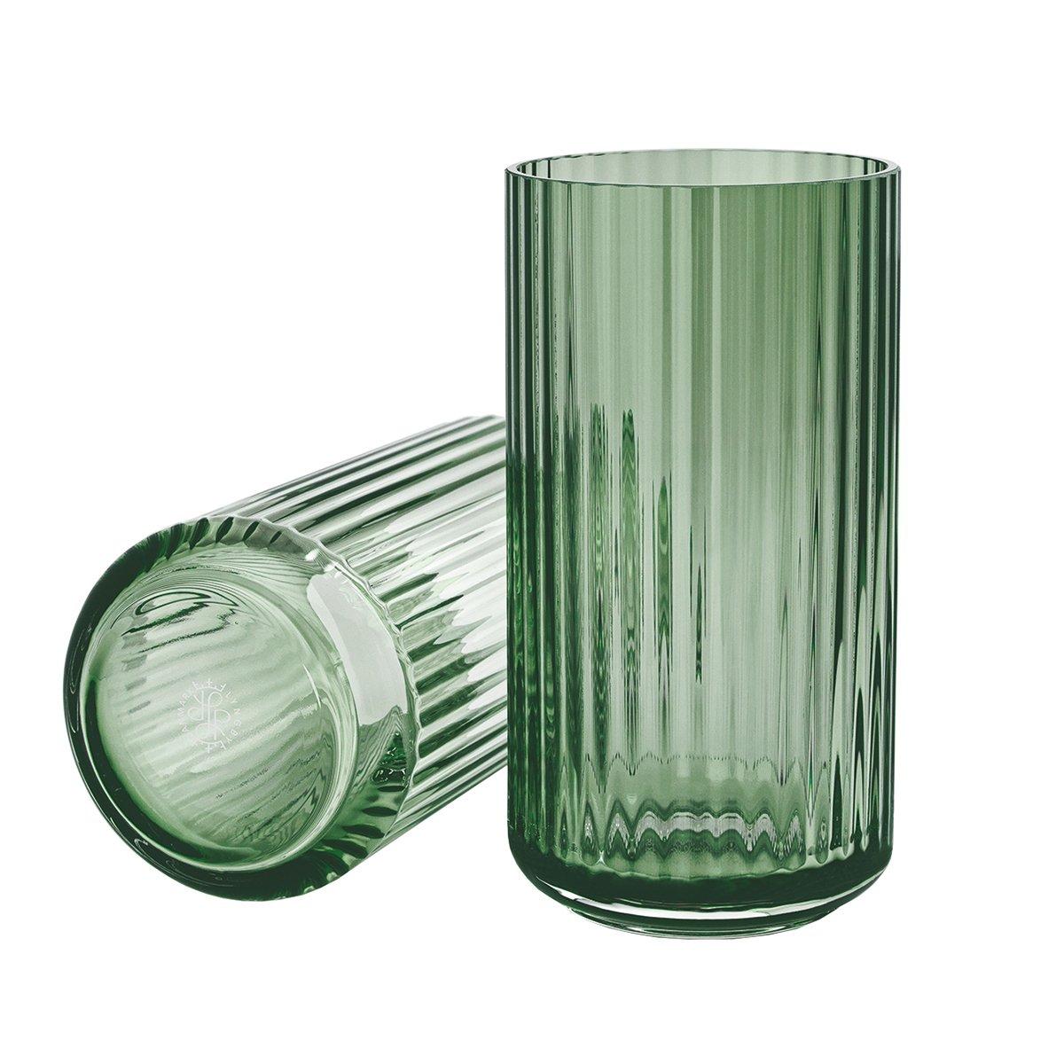 Lyngby Porcel�n Lyngby Vaas Glas - Groen - 20,5 cm.
