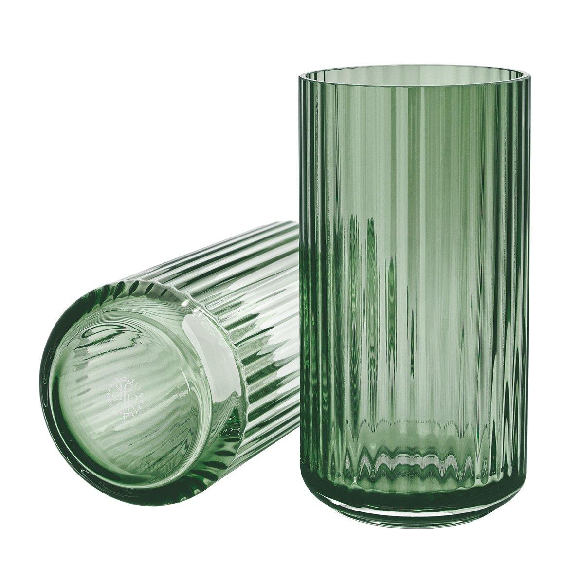 Lyngby Porcel�n Lyngby Vaas Glas - Groen - 25 cm.