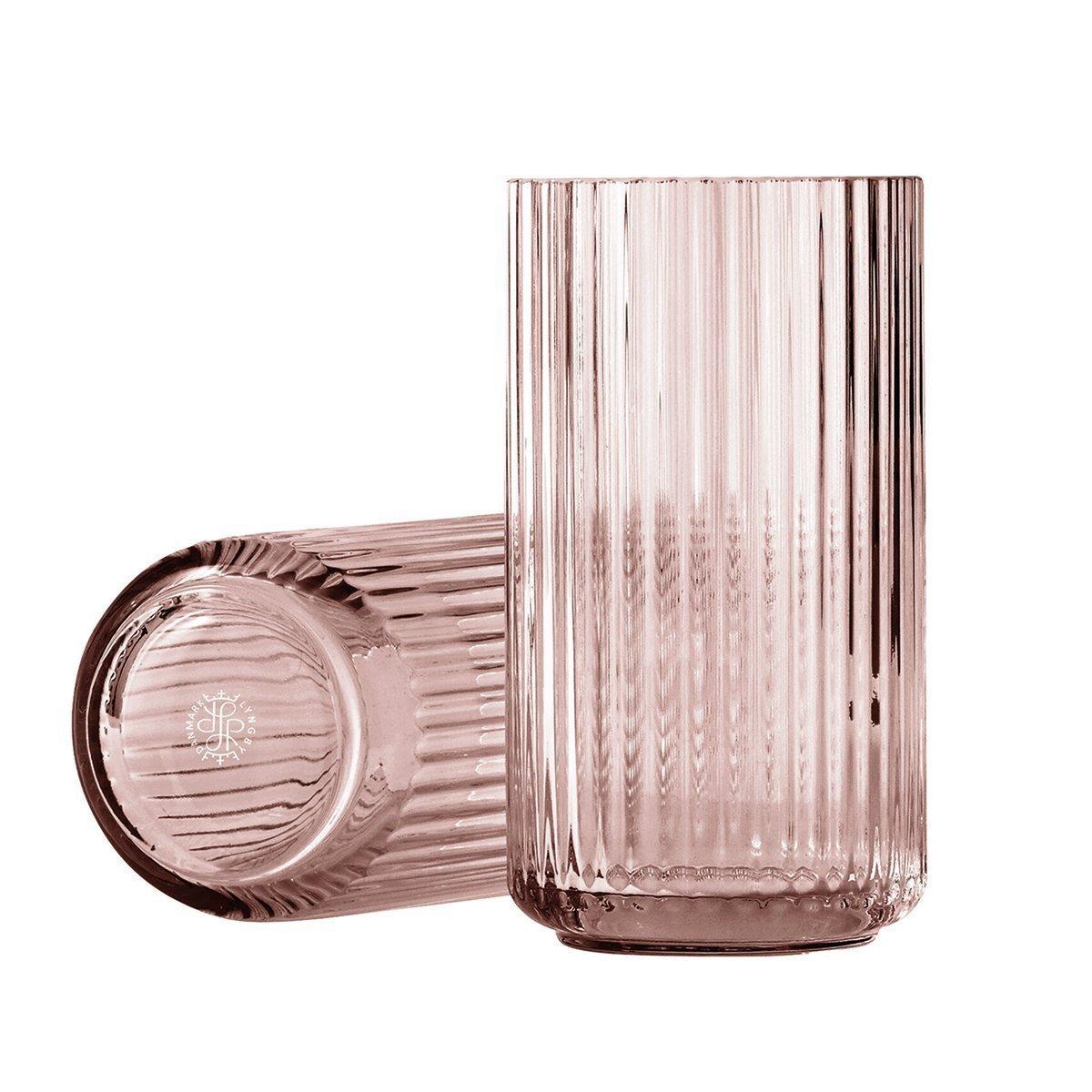 Lyngby Porcel�n Lyngby Vaas Glas - Burgundy - 20,5 cm.
