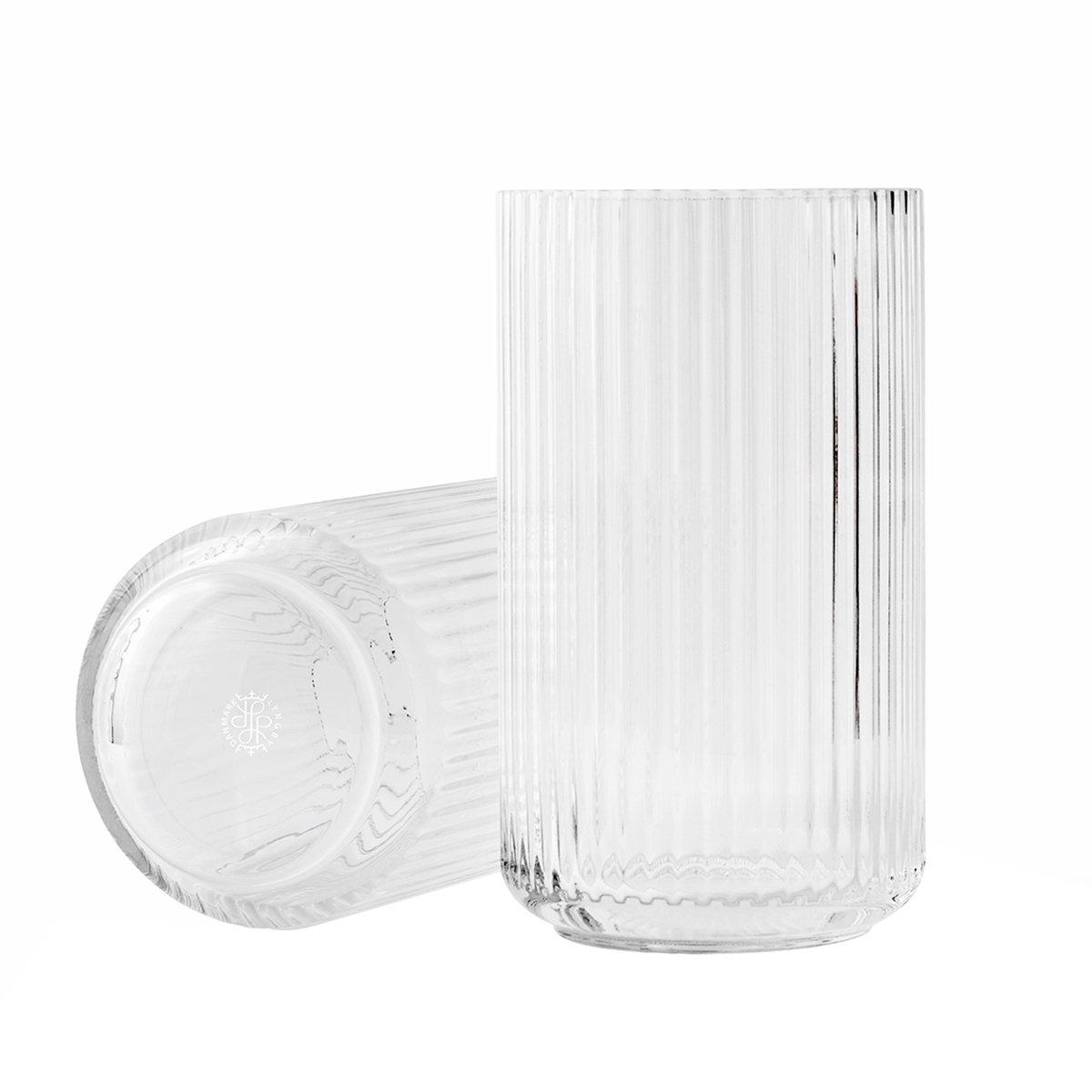 Lyngby Porcel�n Lyngby Vaas Glas - Transparant - 20,5 cm.