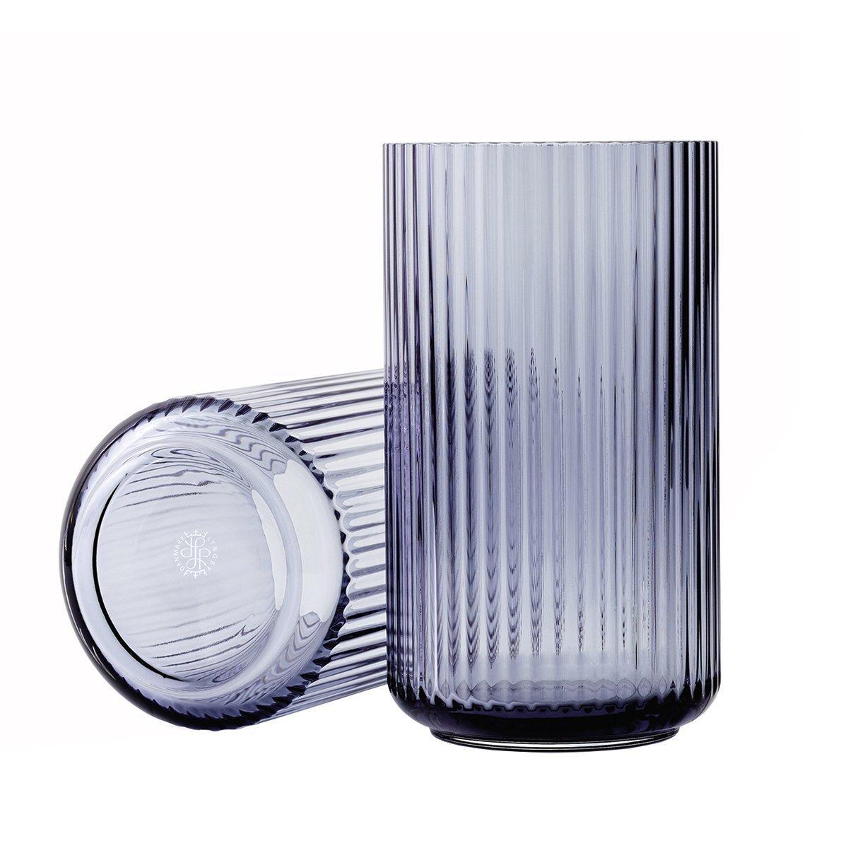 Lyngby Porcel�n Lyngby Vaas Glas - Midnight Blue - 20,5 cm.