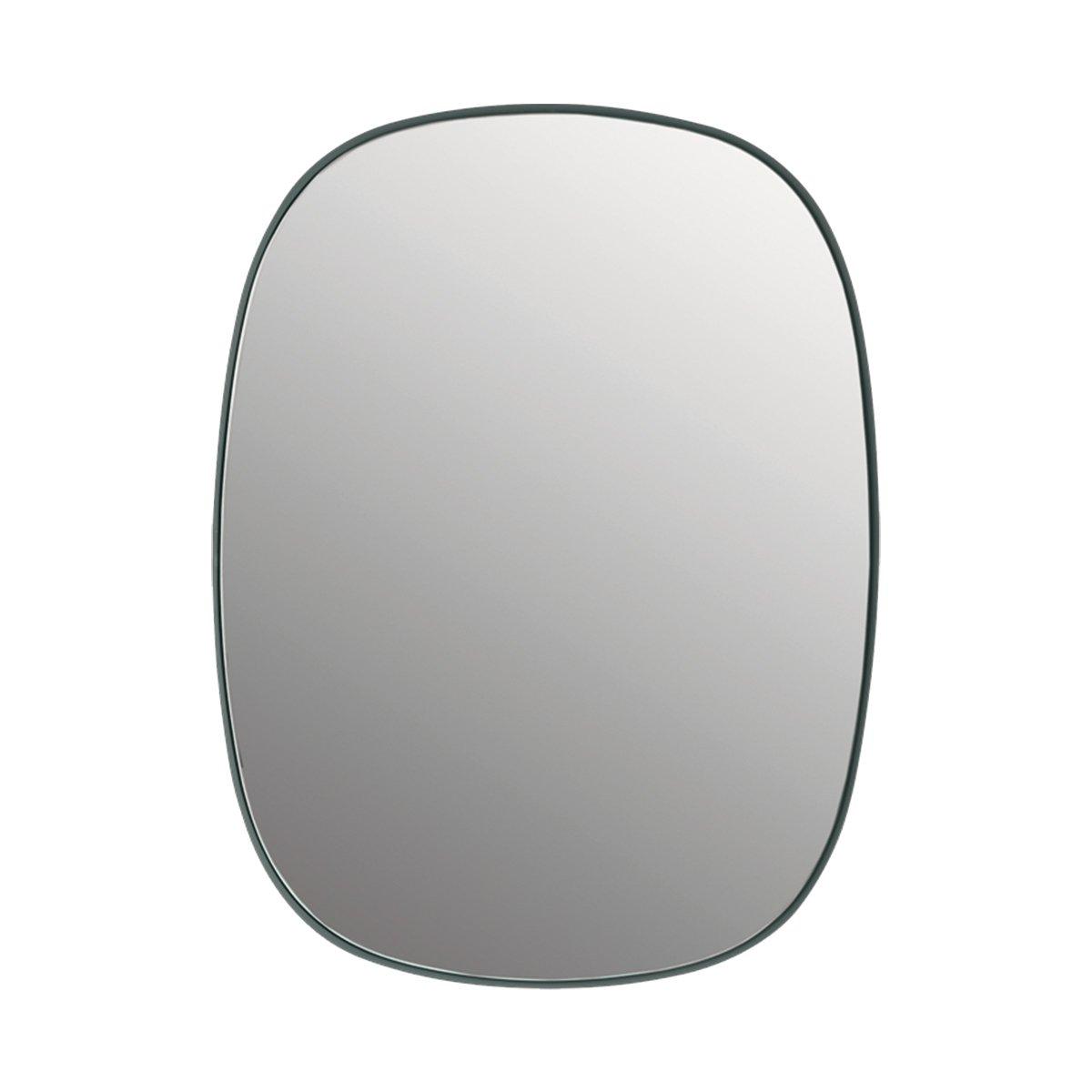 Muuto Framed Spiegel Small - Donkergroen