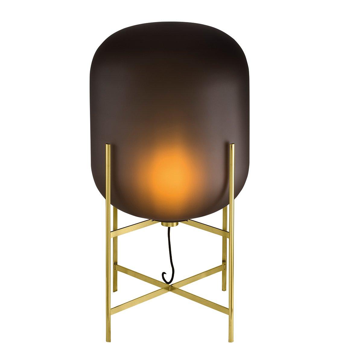Pulpo Oda Vloerlamp Medium (2014) - Mat Smoke Grey / Messing