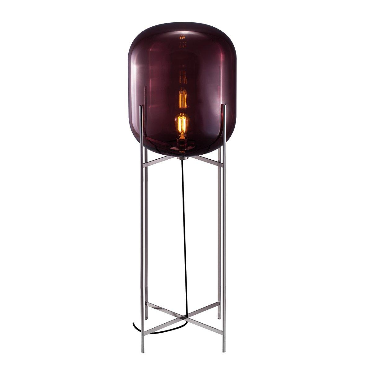 Pulpo Oda Vloerlamp Large (2014) - Aubergine - Chroom