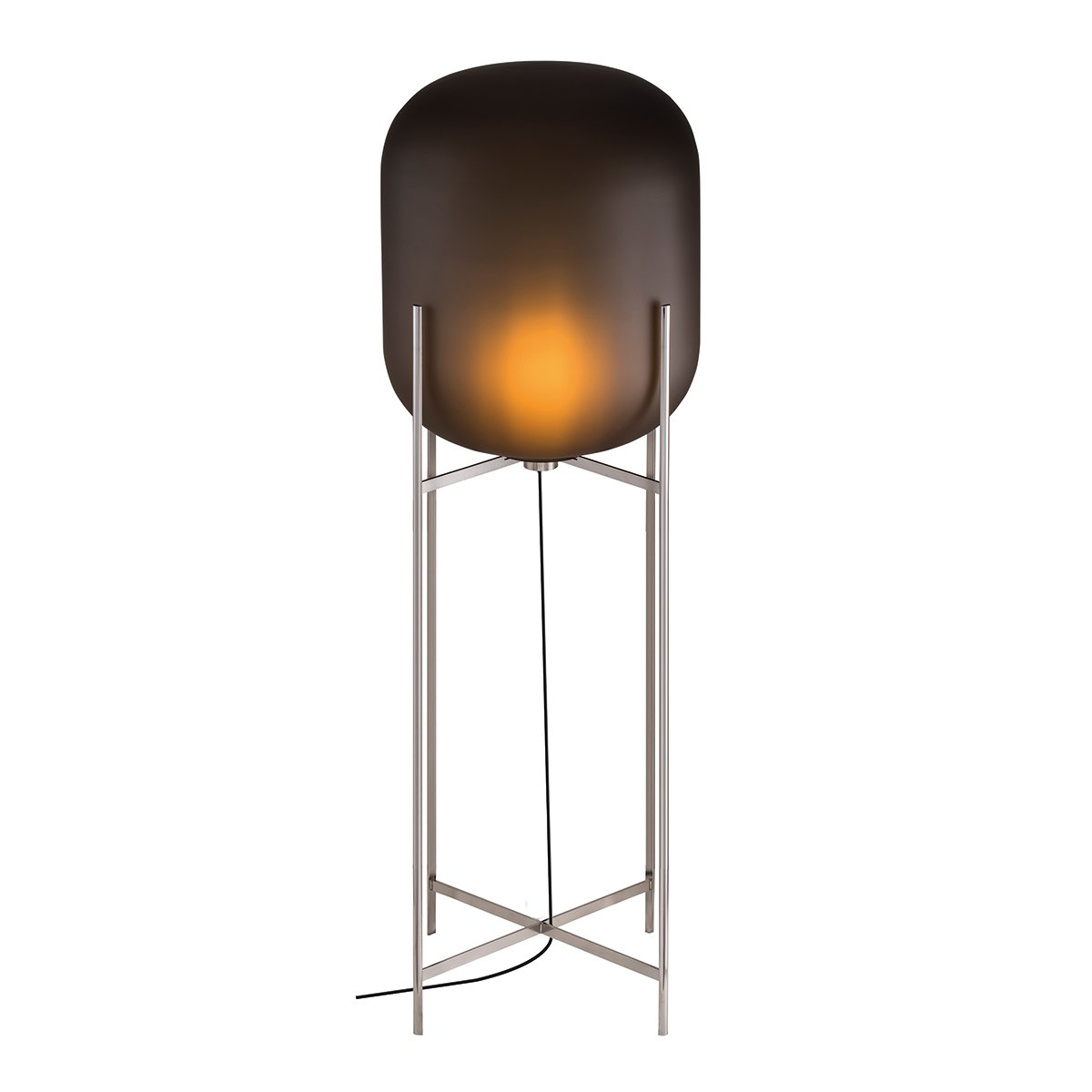 Pulpo Oda Vloerlamp Large (2014) - Mat Smoke Grey / Chroom