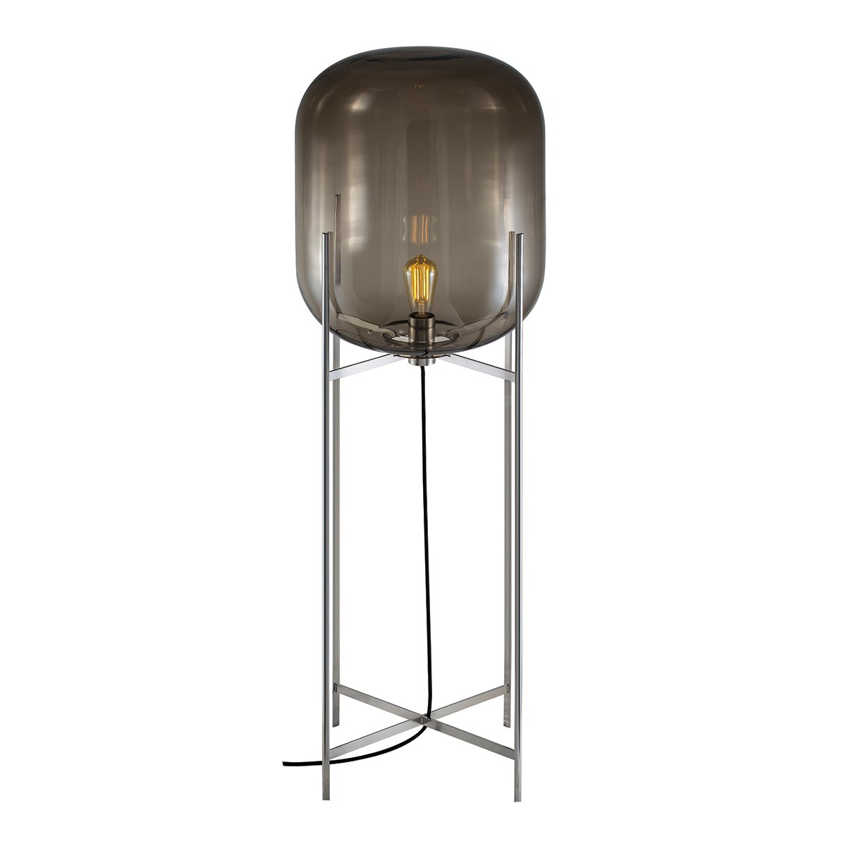 Pulpo Oda Vloerlamp Large (2014) - Smoke Grey / Chroom