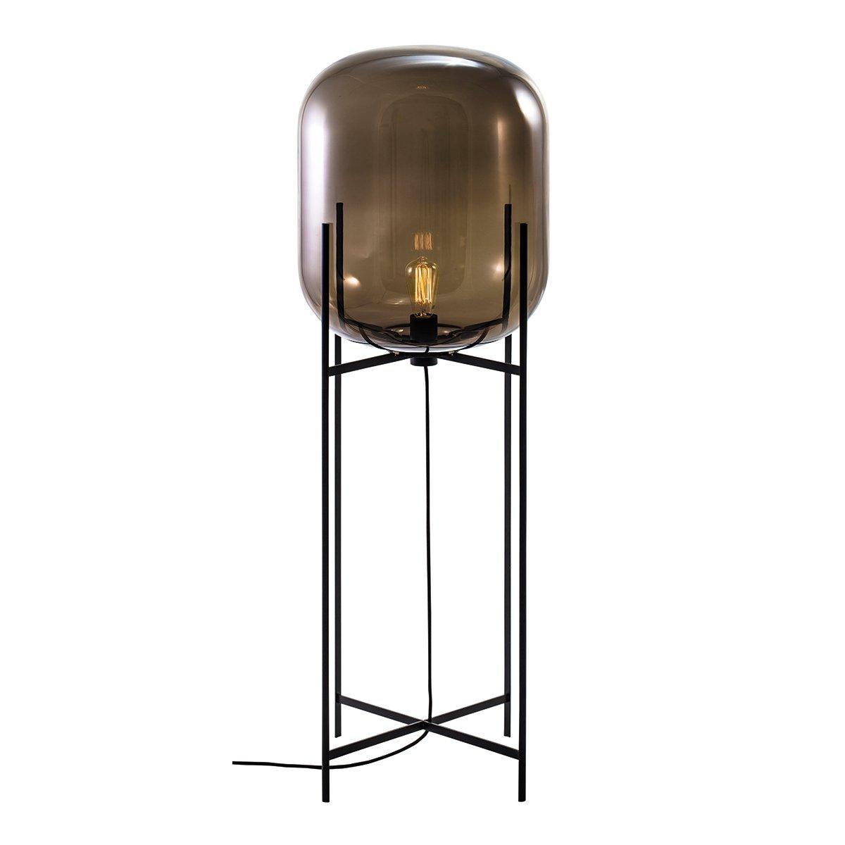 Pulpo Oda Vloerlamp Large (2014) - Smoke Grey / Zwart