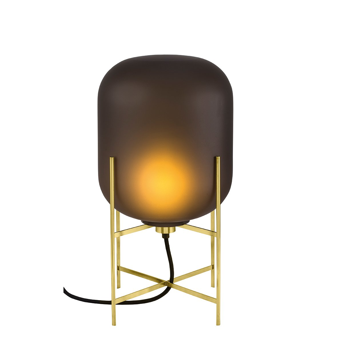 Pulpo Oda Tafellamp Small - Mat Smoke Grey - Messing