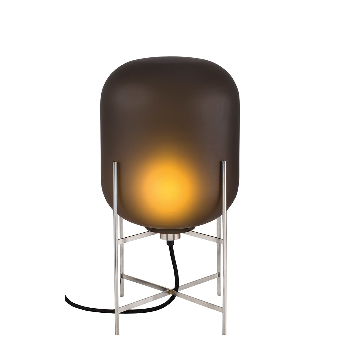 Pulpo Oda Tafellamp Small - Mat Smoke Grey - Chroom