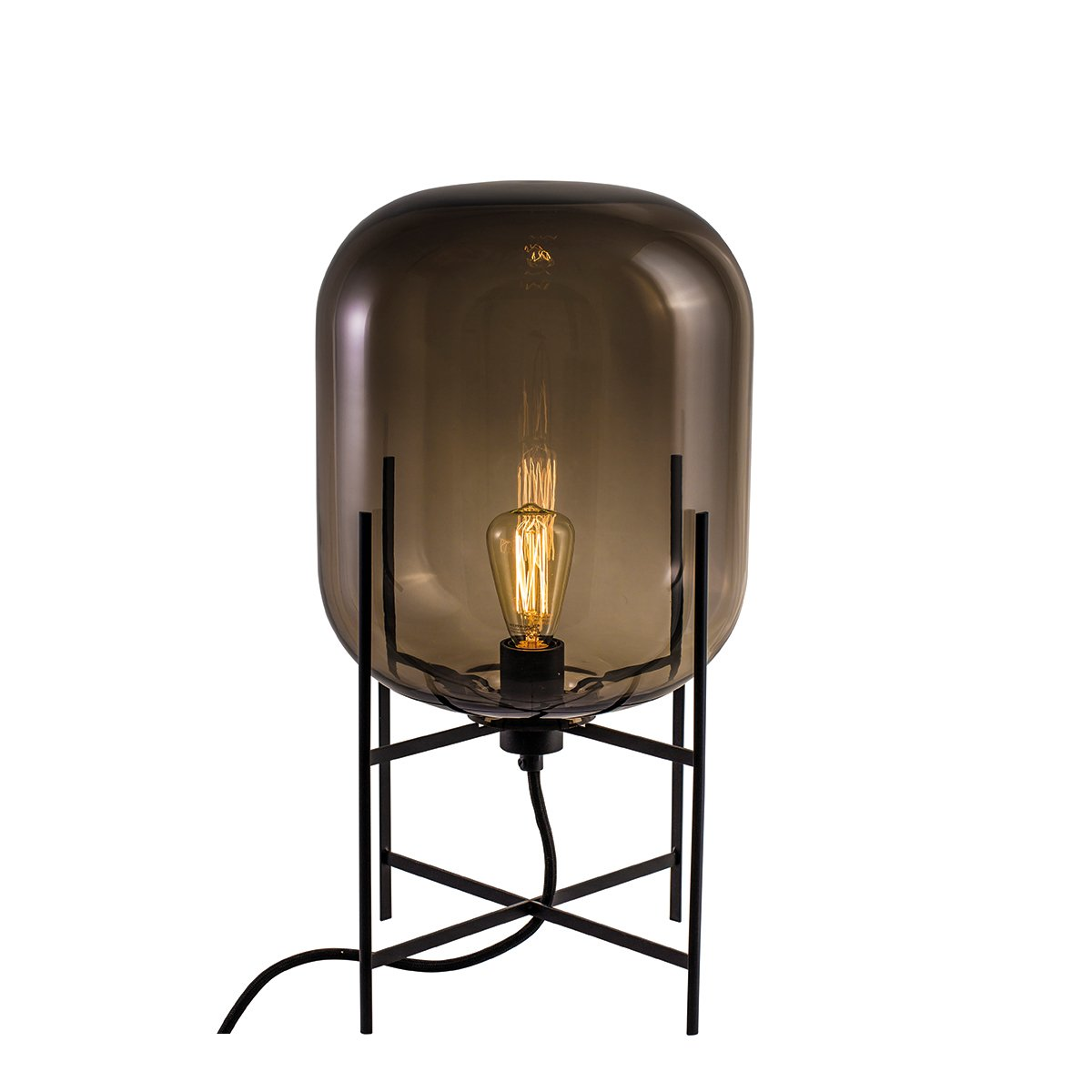 Pulpo Oda Tafellamp Small - Smoke Grey - Zwart