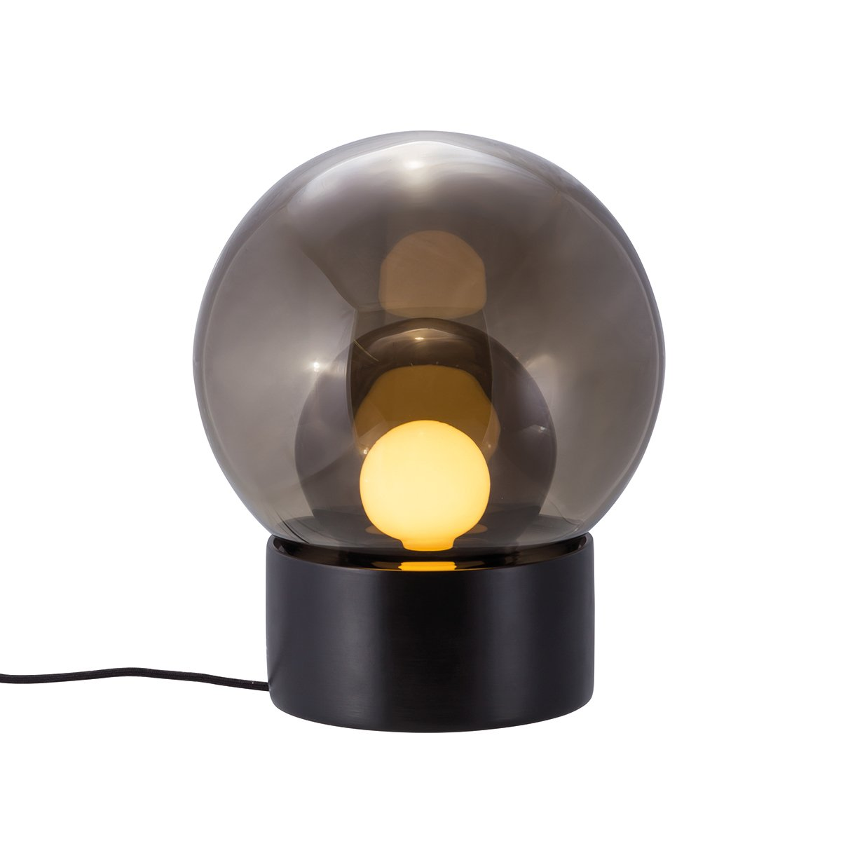 Pulpo Boule Tafellamp door Sebastian Herkner - Zwart - Smoke Grey