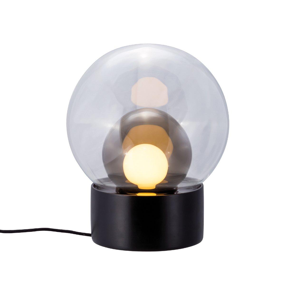 Pulpo Boule Tafellamp Sebastian Herkner (2016) - Zwart - Transparant - Smoke Grey