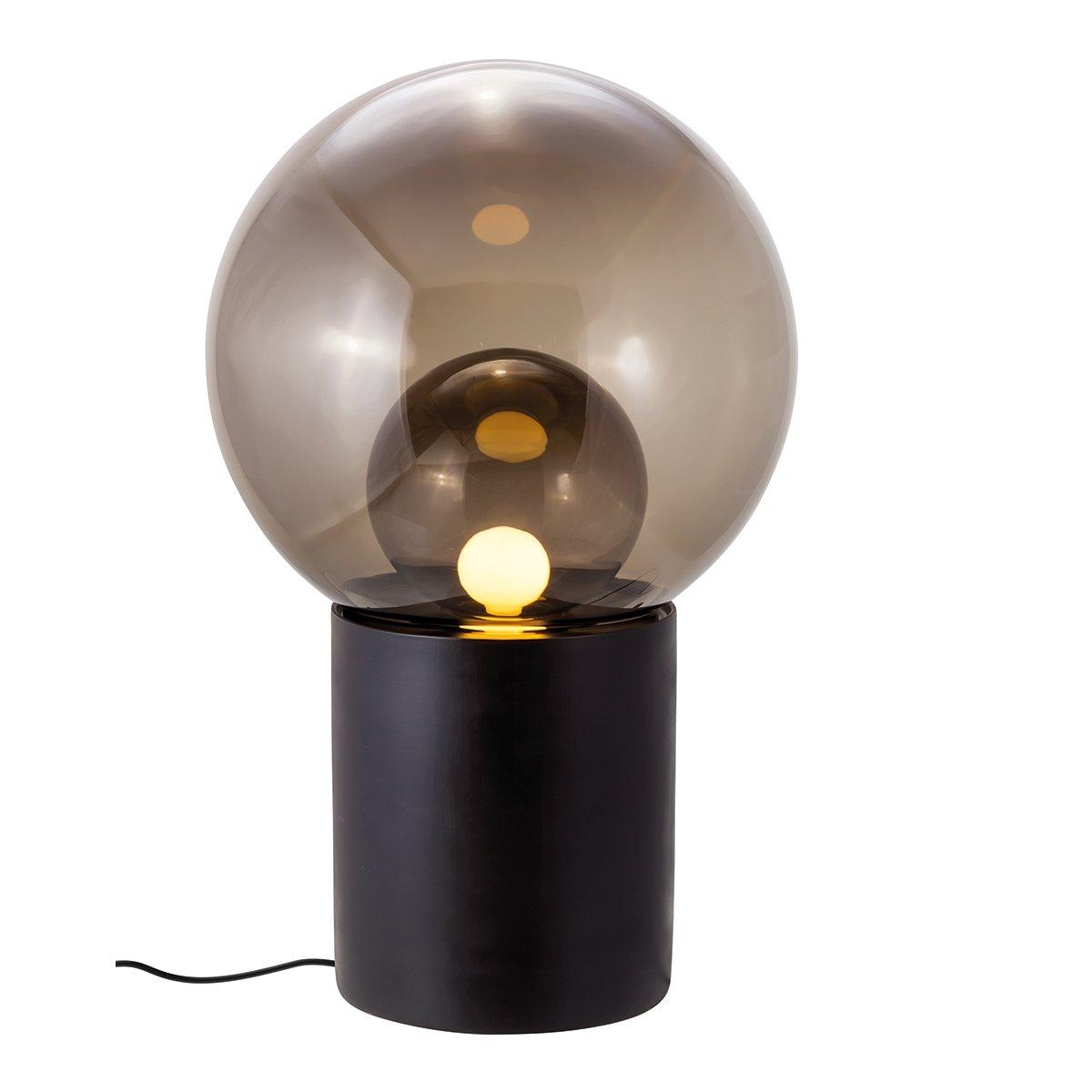 Pulpo Boule High Vloerlamp - Zwart - Smoke Grey