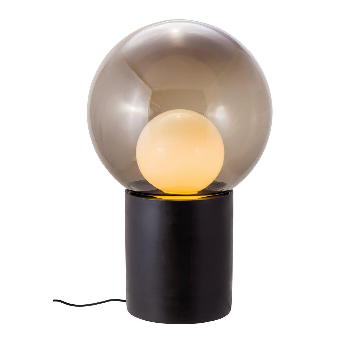 Pulpo Boule High Vloerlamp - Zwart / Smoke Grey / Opaal Wit