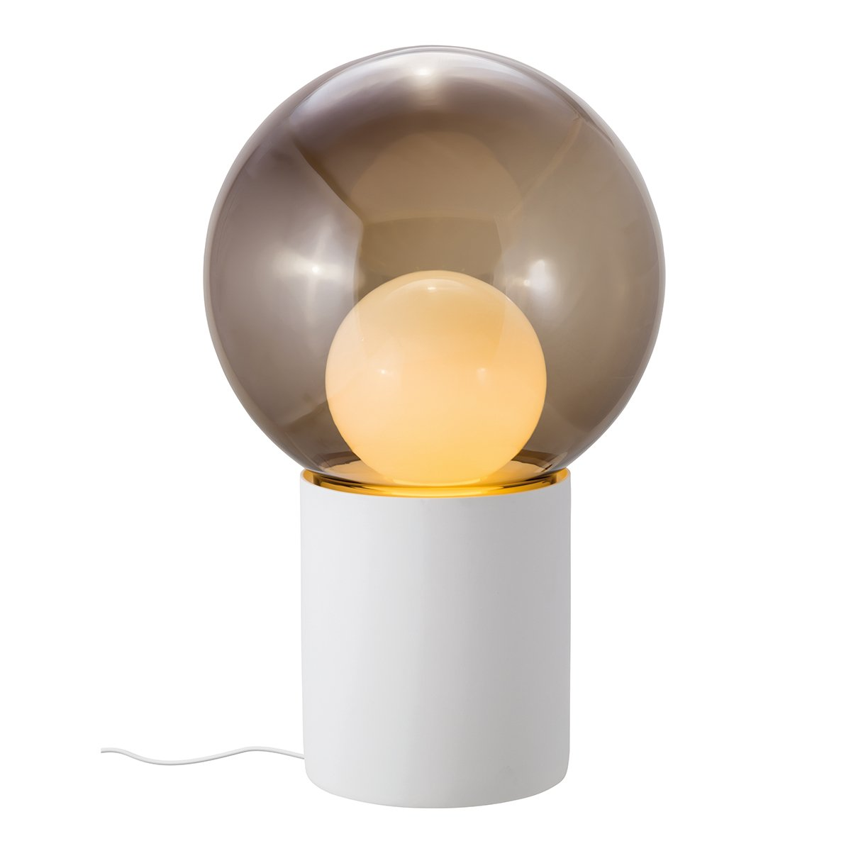 Pulpo Boule High Vloerlamp - Wit - Smoke Grey - Opaal Wit
