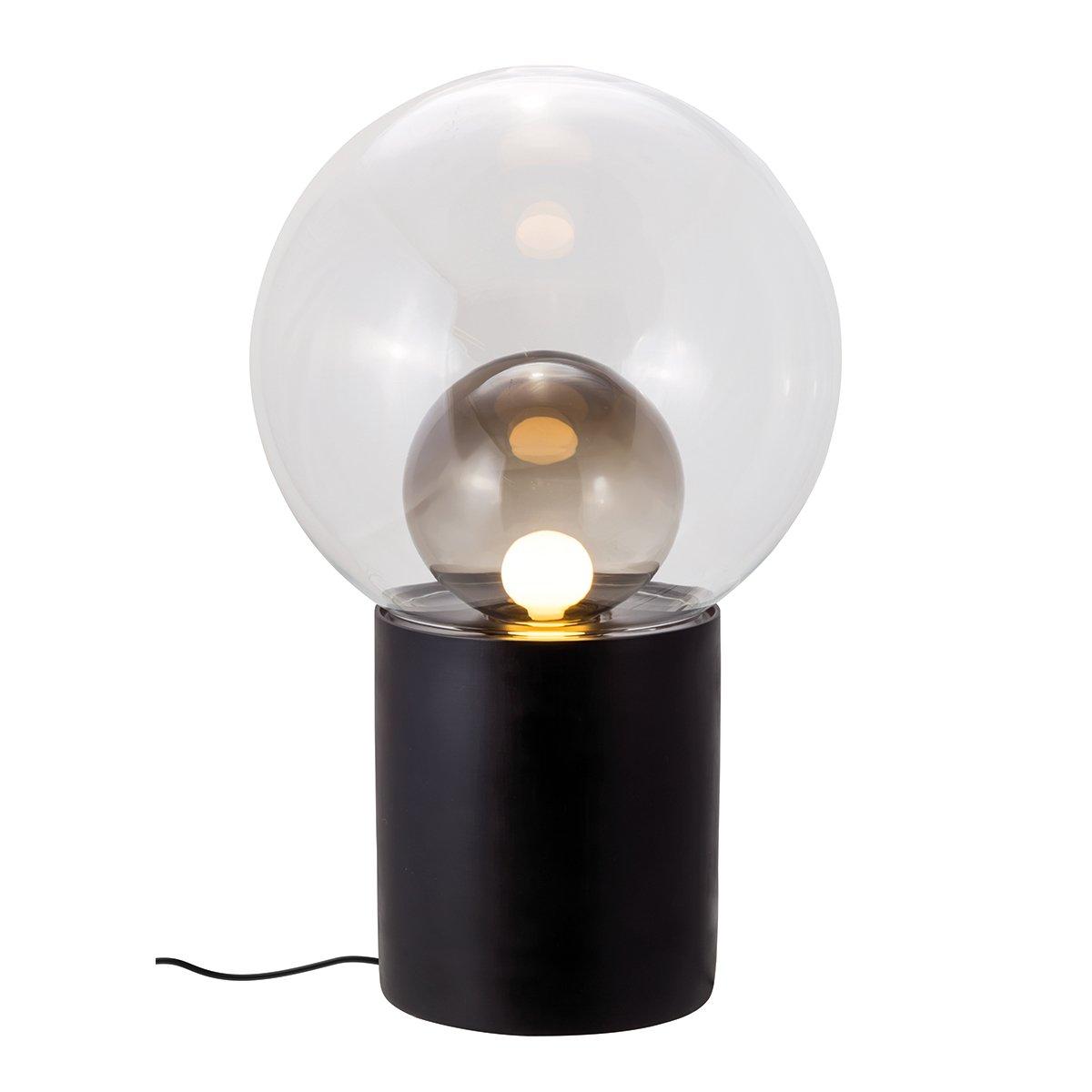 Pulpo Boule High Vloerlamp - Zwart - Transparant - Smoke Grey