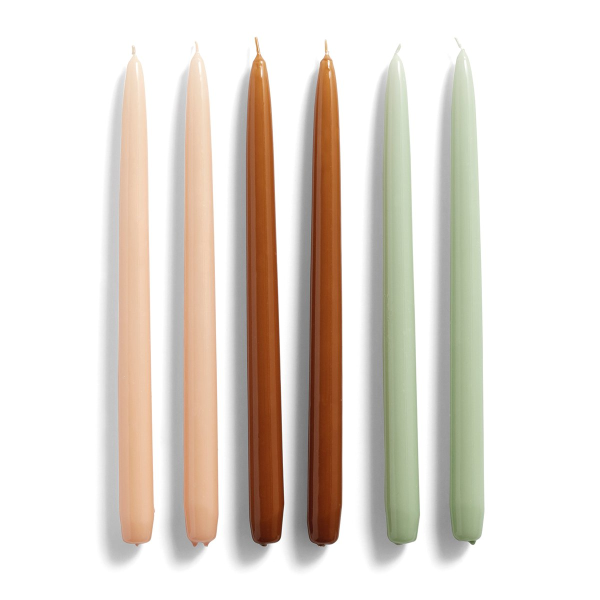 Image of HAY Candle Kaars Conical - Peach / Caramel / Mint