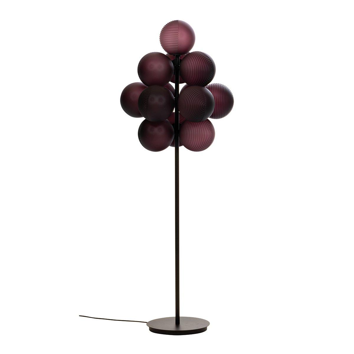 Pulpo Stellar Grape Vloerlamp Big by Sebastian Herkner - Aubergine