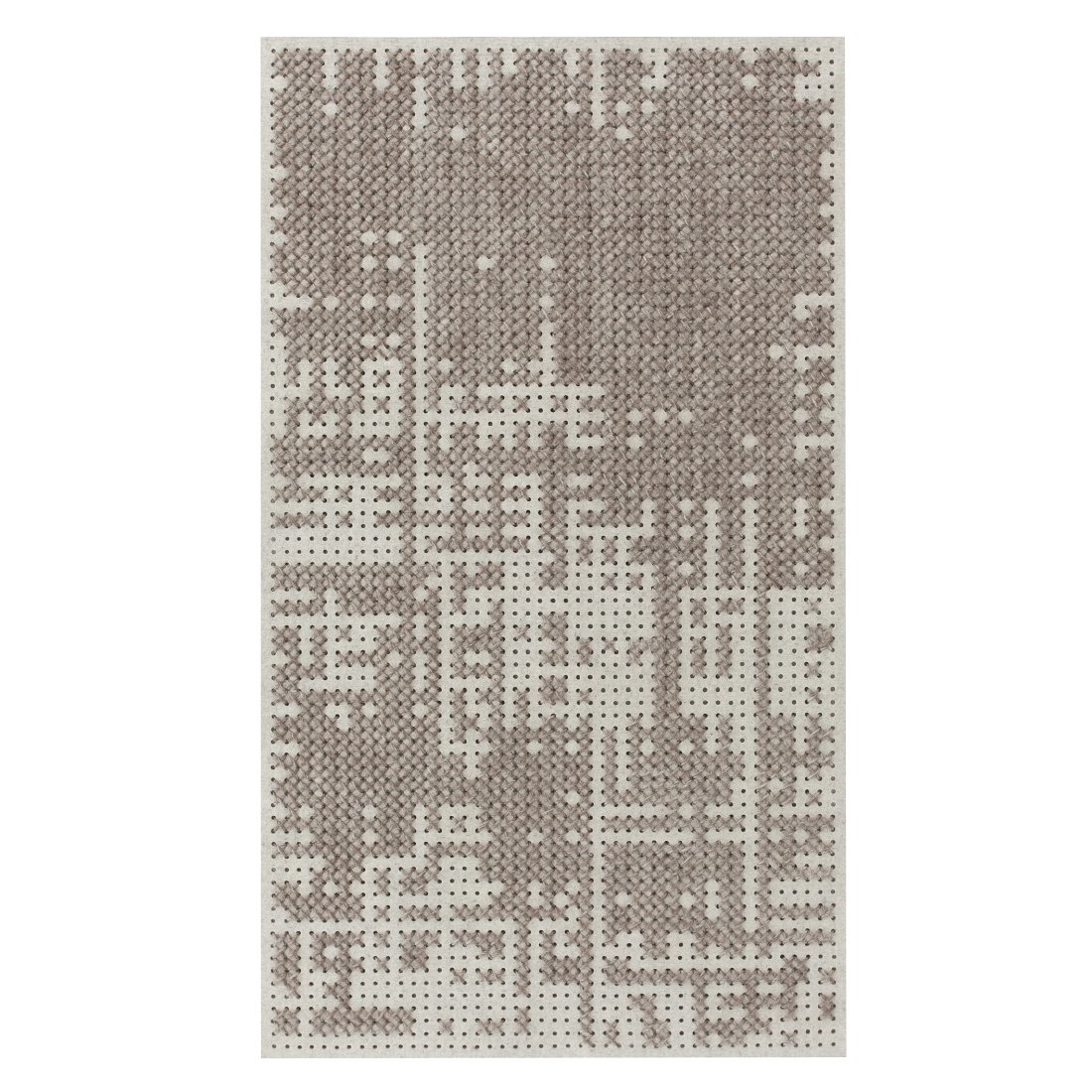 Abstract Silver Canevas Vloerkleed M - Gan Rugs-Medium