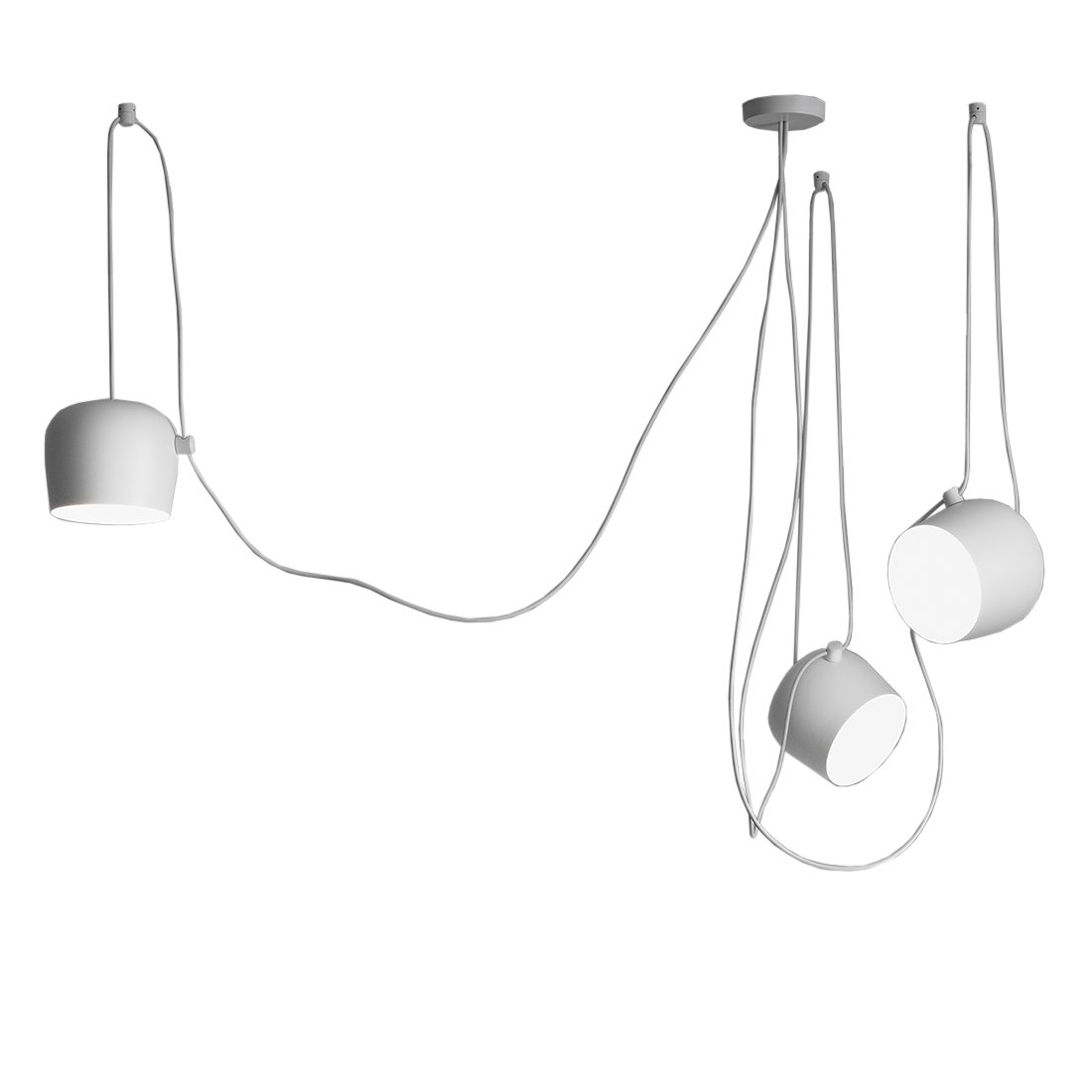 FLOS Aim Hanglamp Set van 3 - Wit