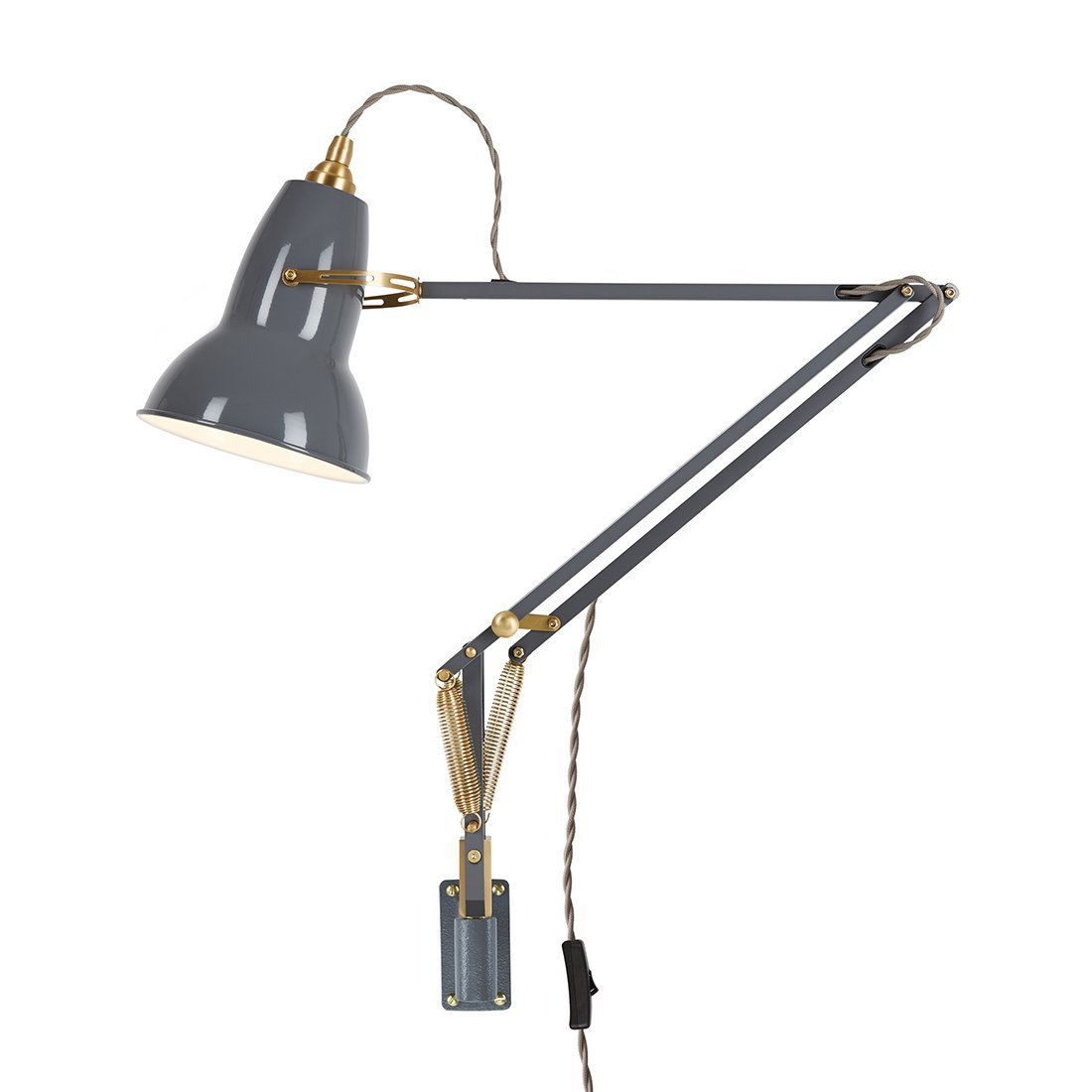 Anglepoise Original 1227 Brass Wall Mounted Wandlamp