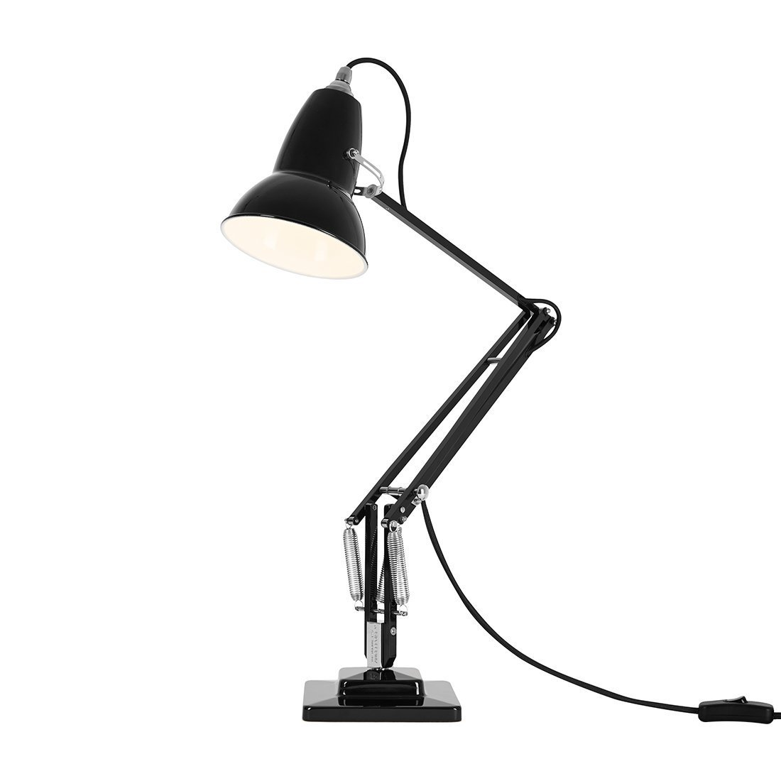 Anglepoise Original 1227 Desk Lamp Jet Black Bureaulamp