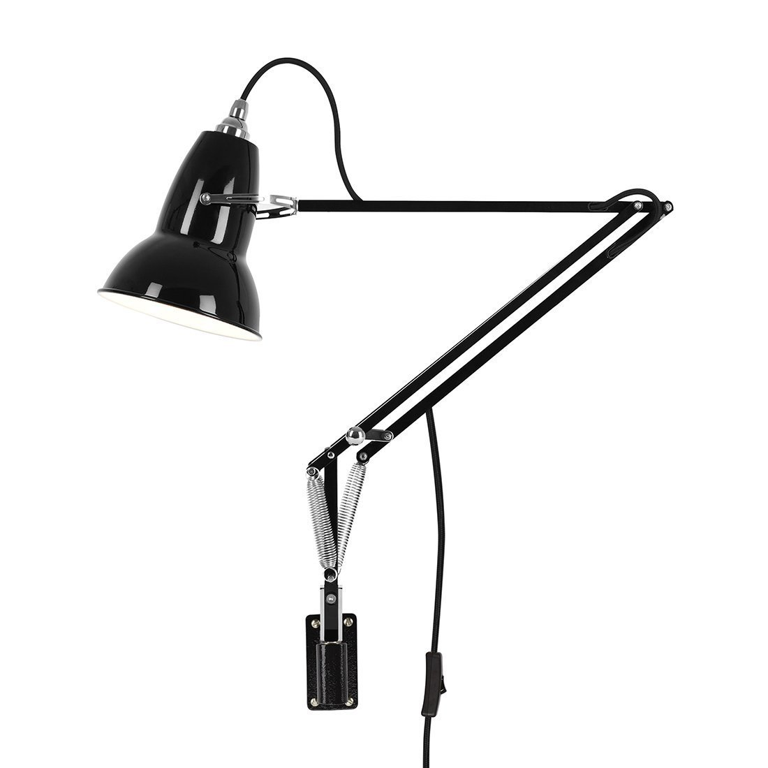 Anglepoise Original 1227 Wall Mounted Jet Black Wandlamp