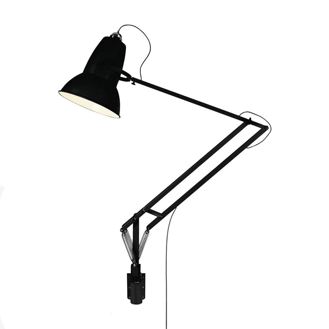 Anglepoise Original 1227 Giant Wall Mounted Jet Black Wandlamp