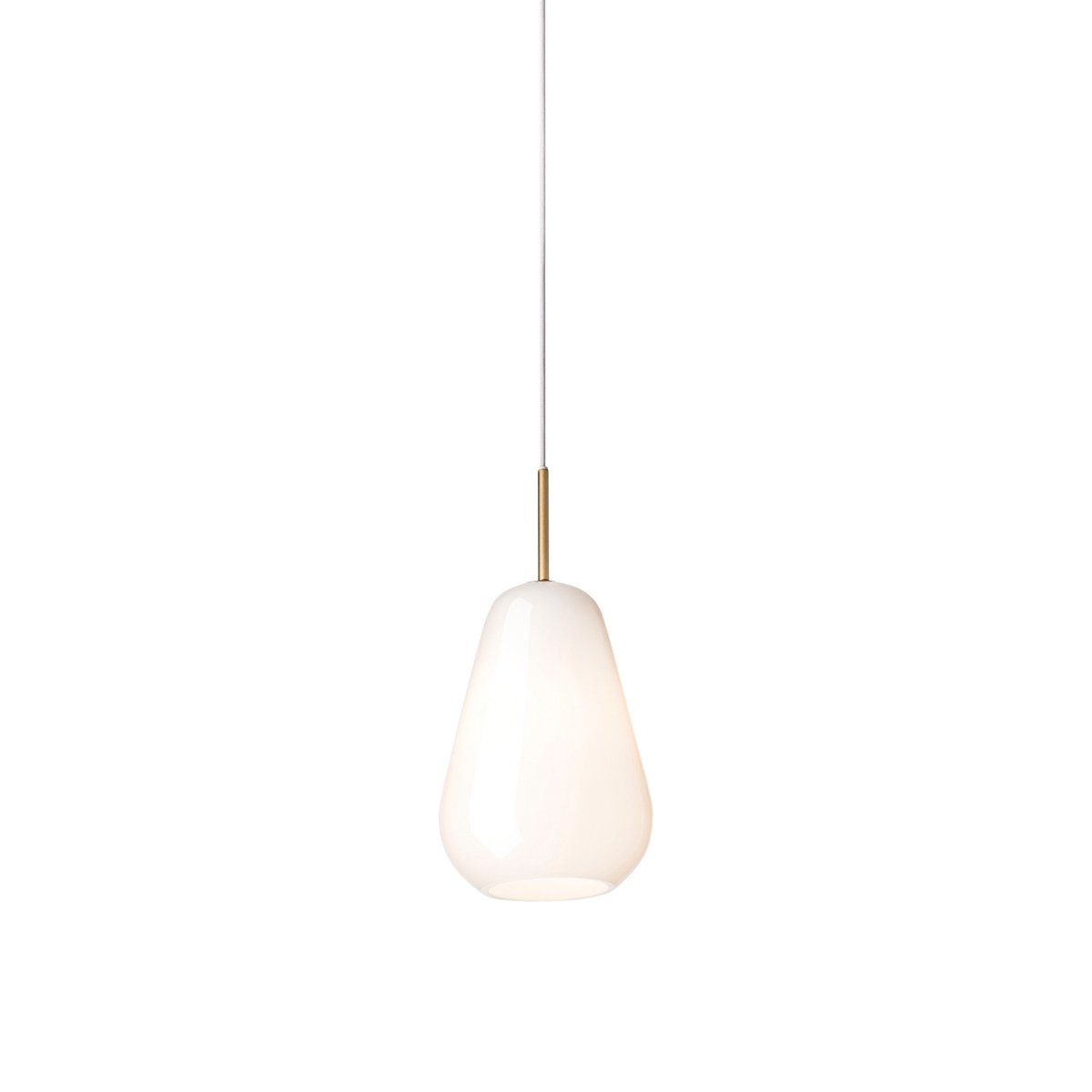 Nuura Anoli 1 Hanglamp Small G9 - Nordic Gold - Opal White