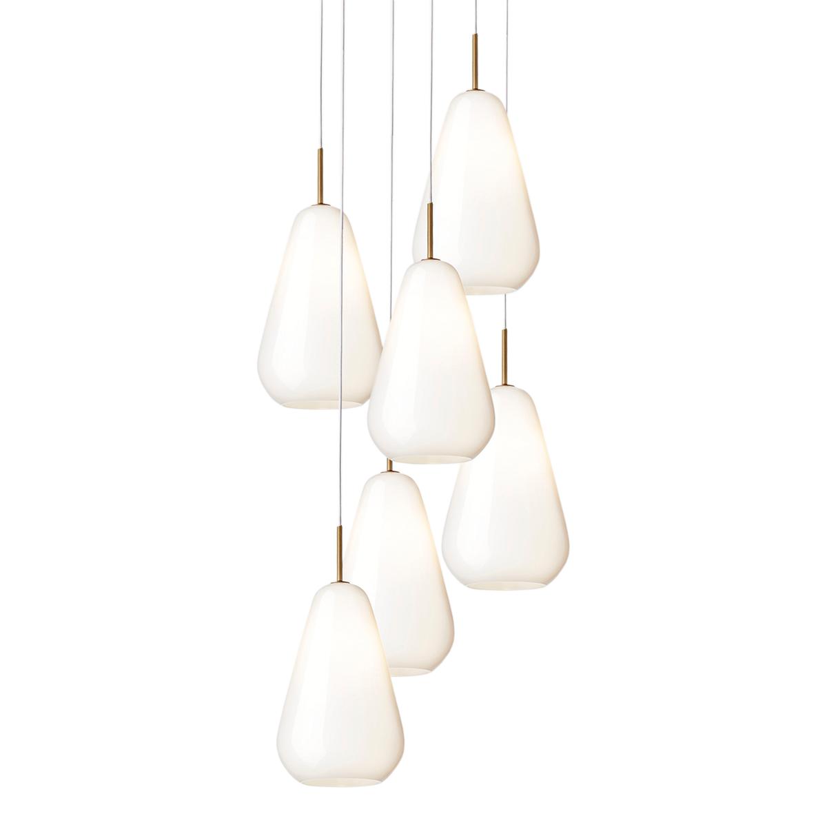 Nuura Anoli 6 Hanglamp G9 - Nordic Gold - Opal White