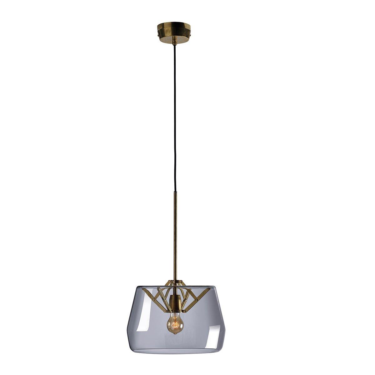 Tonone Atlas Hanglamp - Grijs Glas 35 cm.