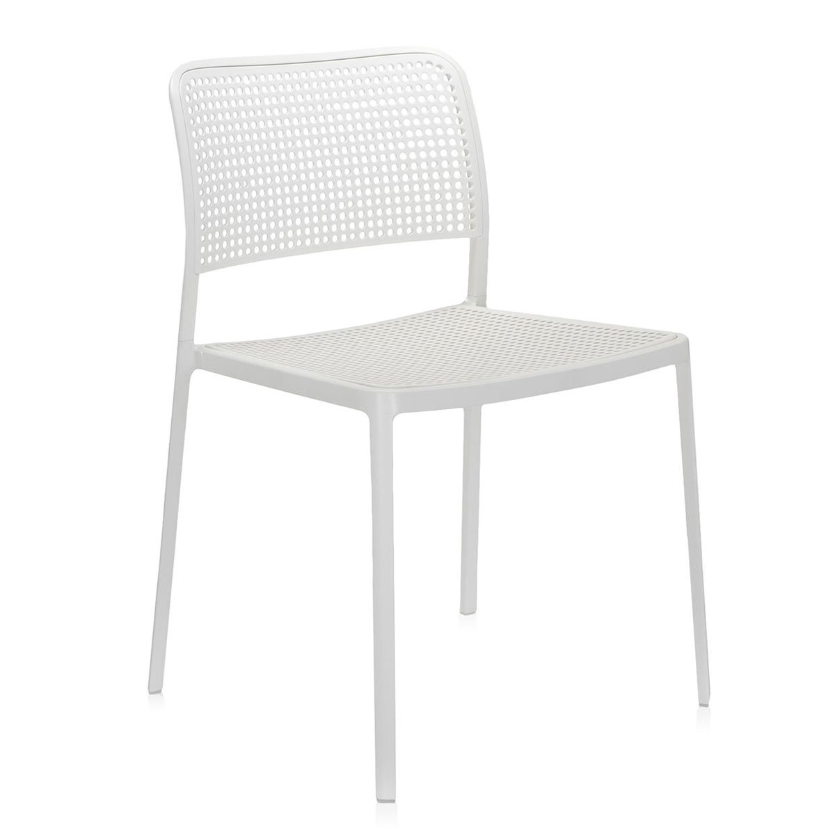 Kartell Audrey Stoel - Wit/wit
