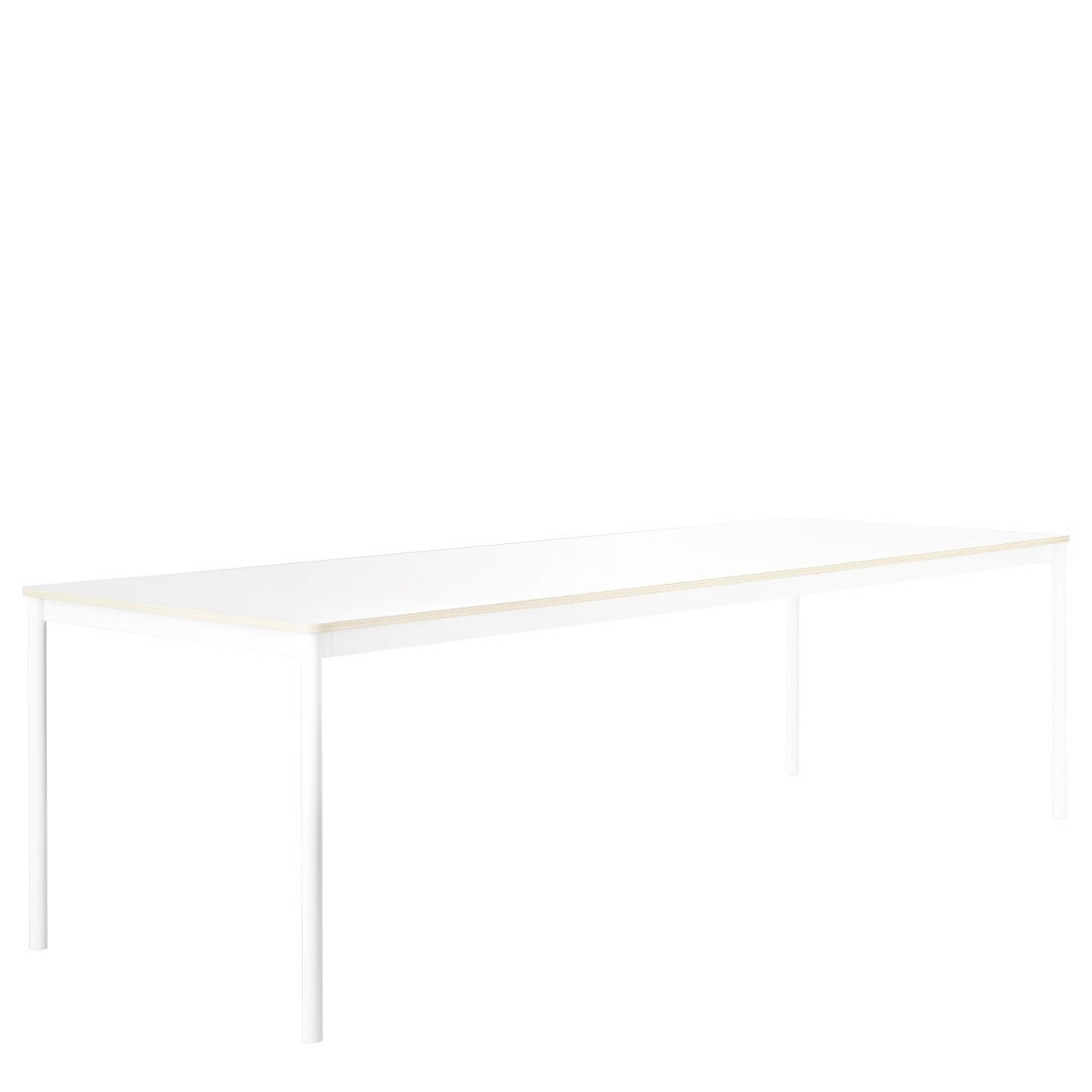 Muuto Base Table Laminaat met Multiplex Randen Wit 250 x 90 cm