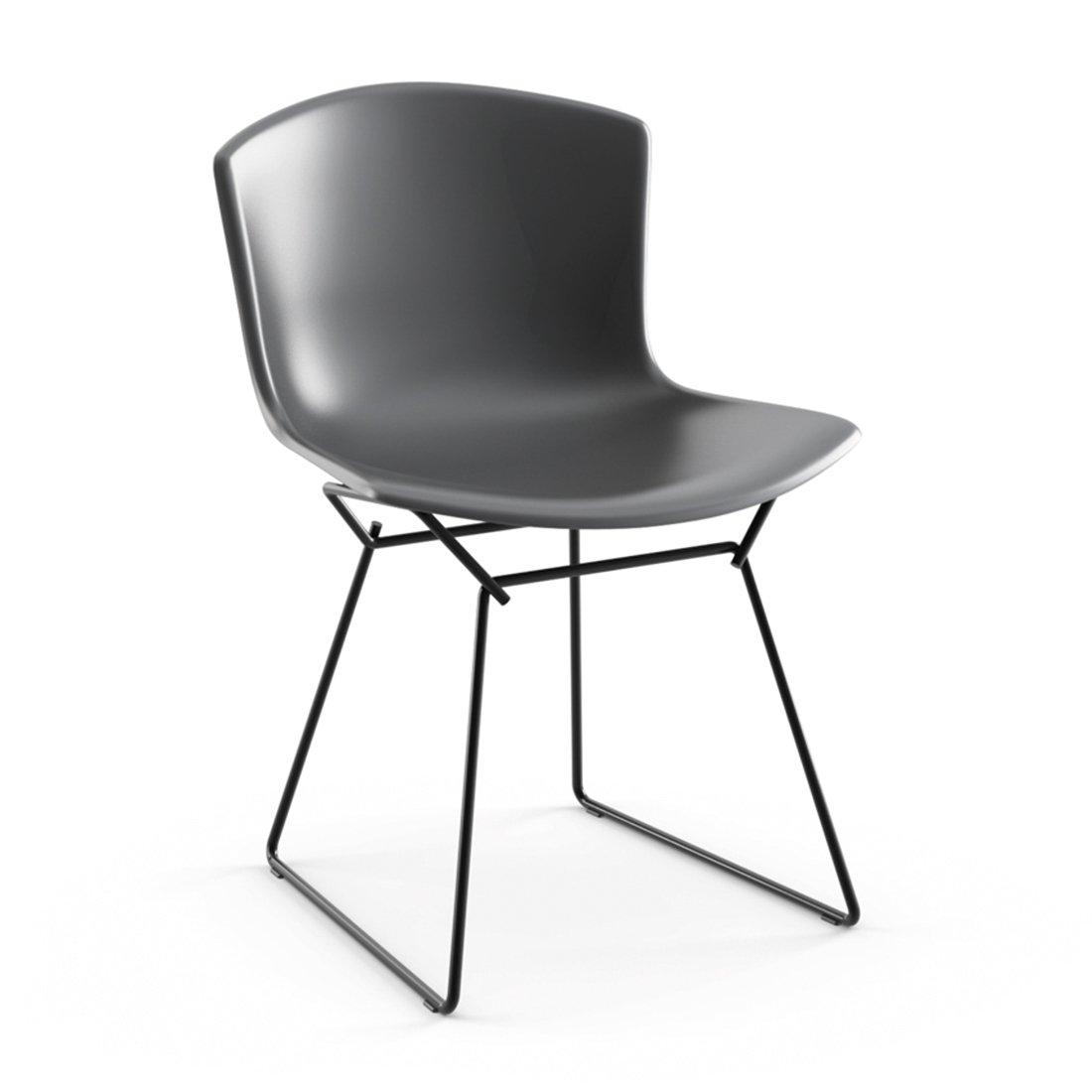 Knoll Bertoia Plastic Side Chair - Medium Grijs/Zwart