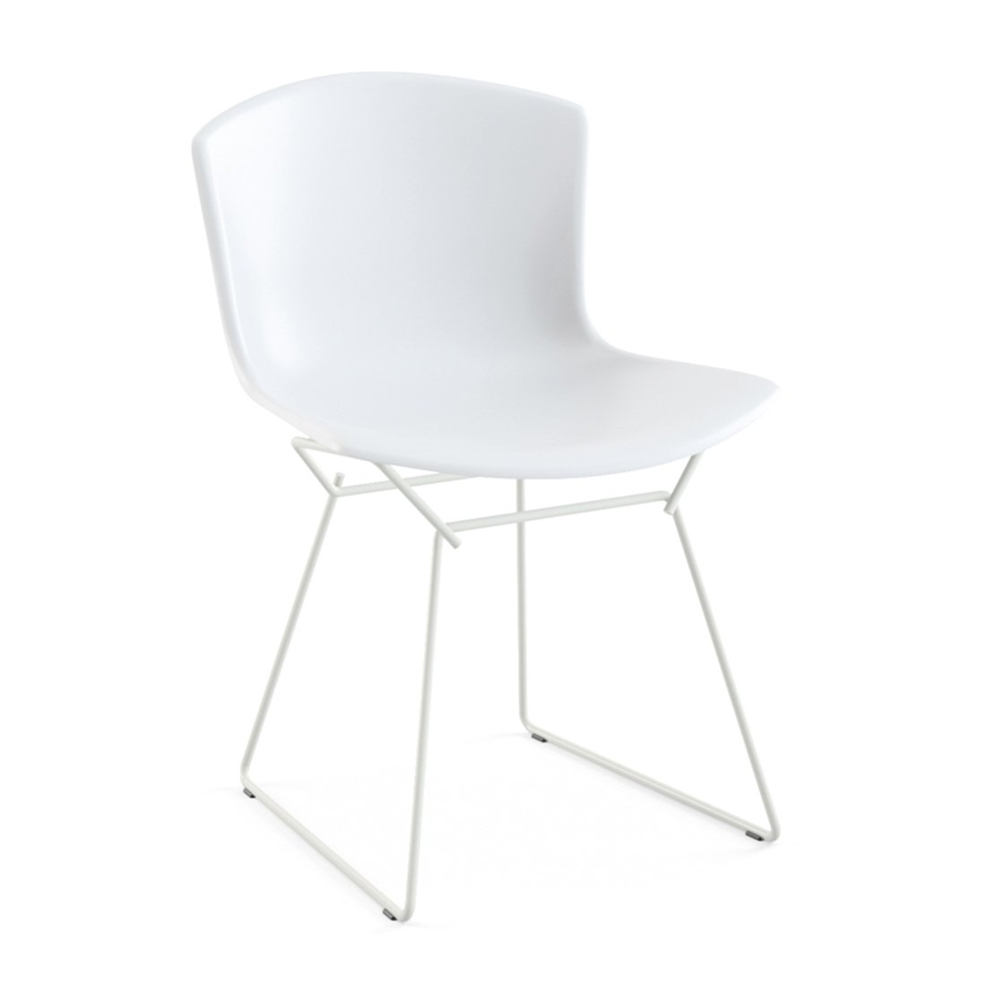 Knoll Bertoia Plastic Side Chair - Wit/Wit