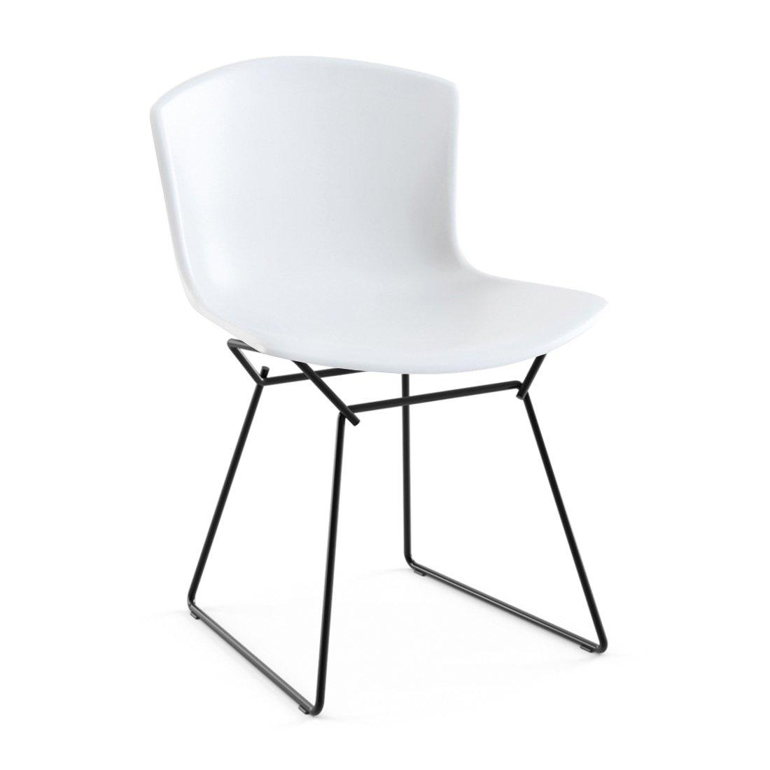 Knoll Bertoia Plastic Side Chair - Wit/Zwart
