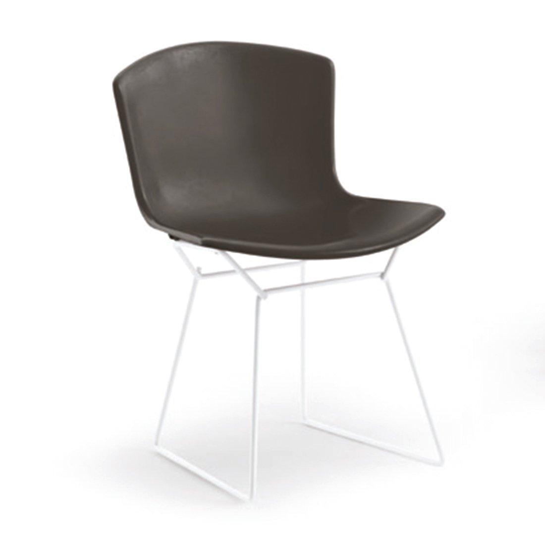 Knoll Bertoia Plastic Side Chair - Zwart/Wit