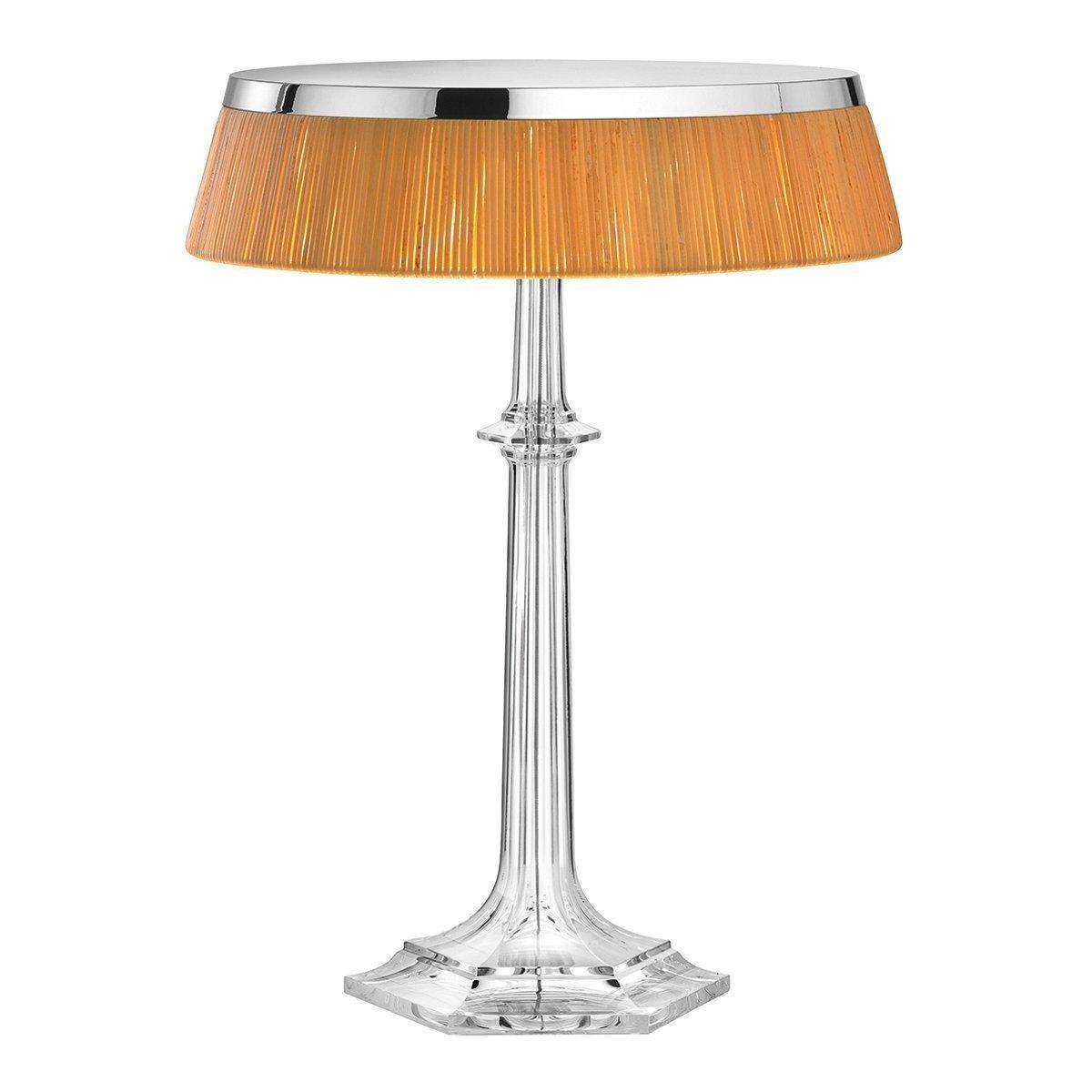 FLOS Bon Jour Versailles Tafellamp - Chroom - Rotan