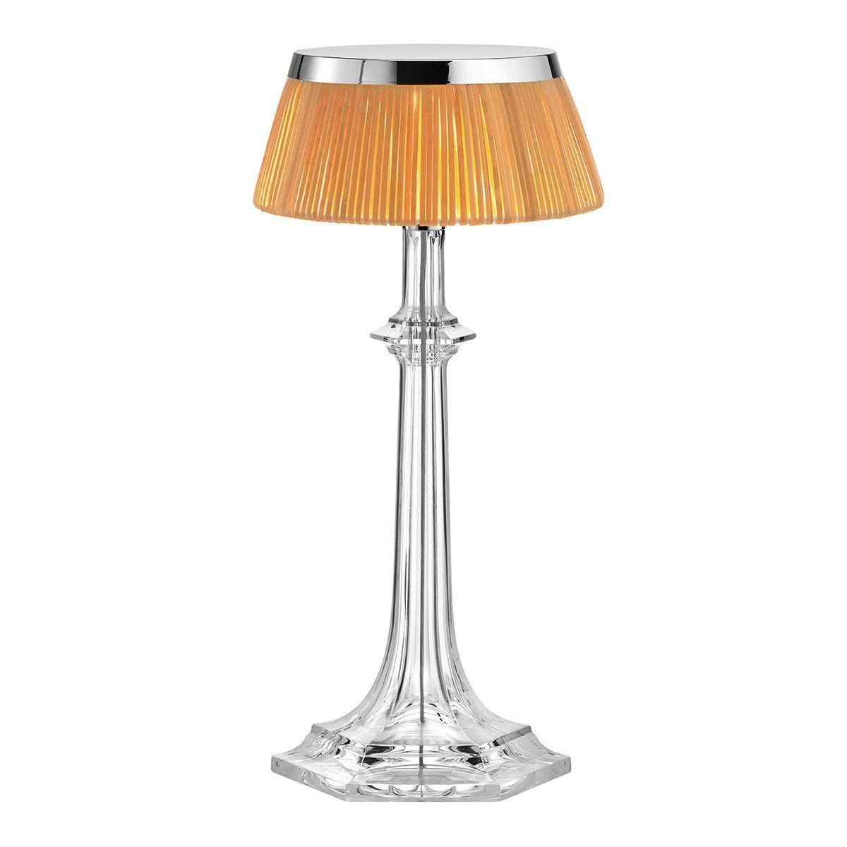 FLOS Bon Jour Versailles Small Tafellamp Chroom - Rotan