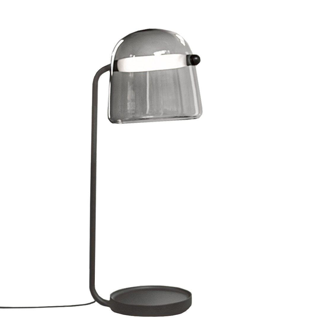 Brokis Mona Vloerlamp Large Donkergrijs - Zwarte Body