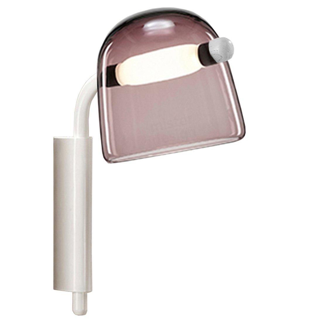 Brokis Mona Wandlamp Medium - Violet Glas Witte body