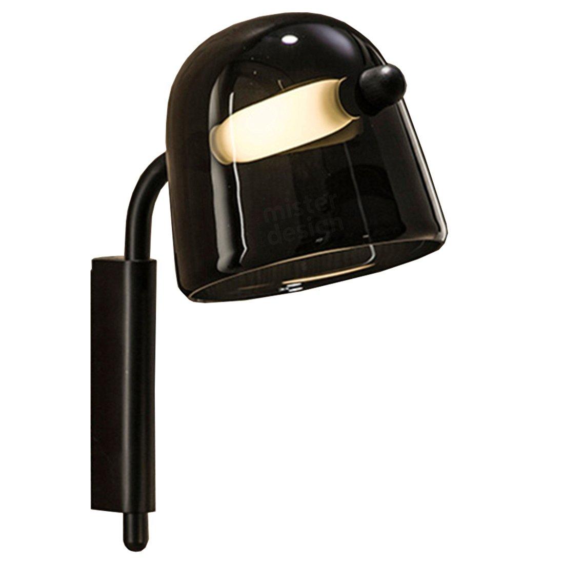 Brokis Mona Wandlamp Medium - Zwart glas Zwarte Body