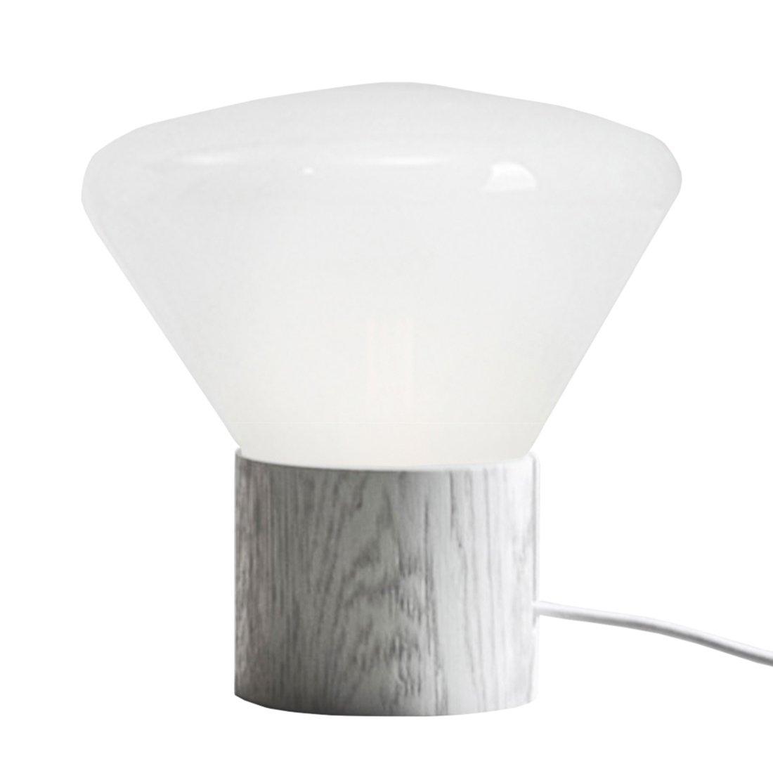 Brokis Muffin Tafellamp Large Opaal Wit - Wit Eiken
