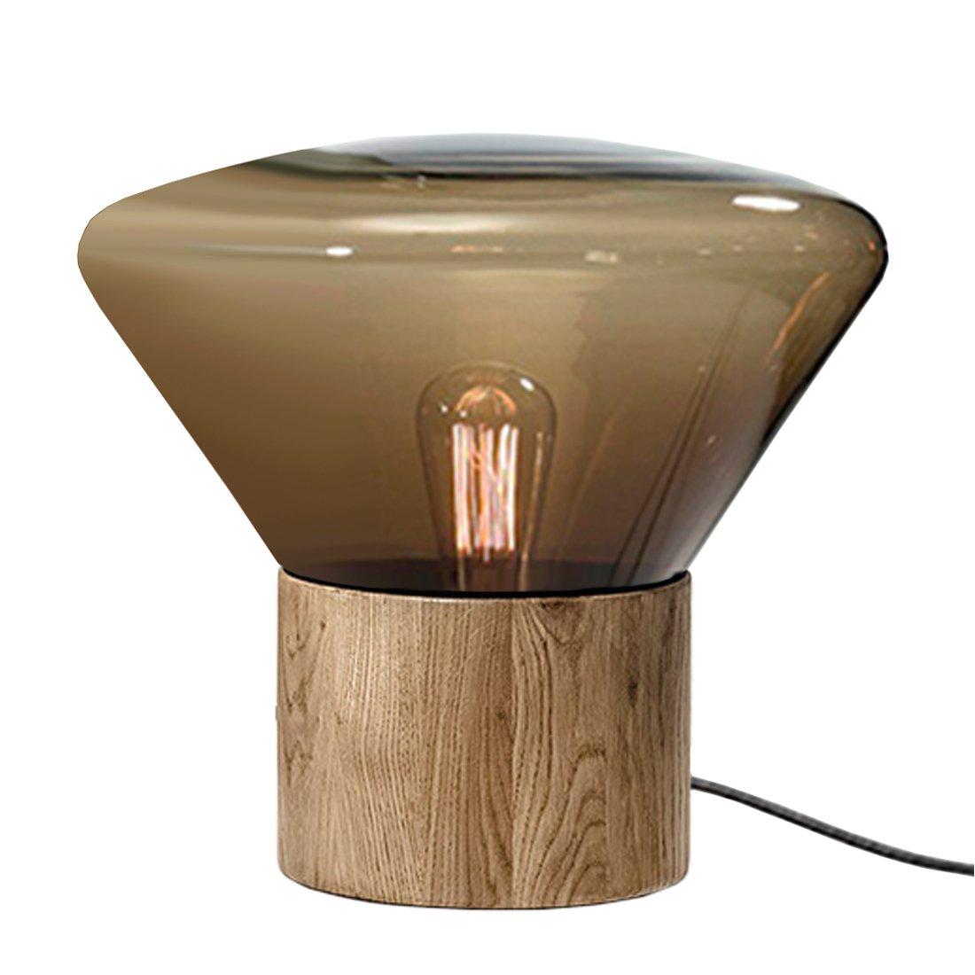 Brokis Muffin Tafellamp Medium Smoked Brown - Naturel Eiken