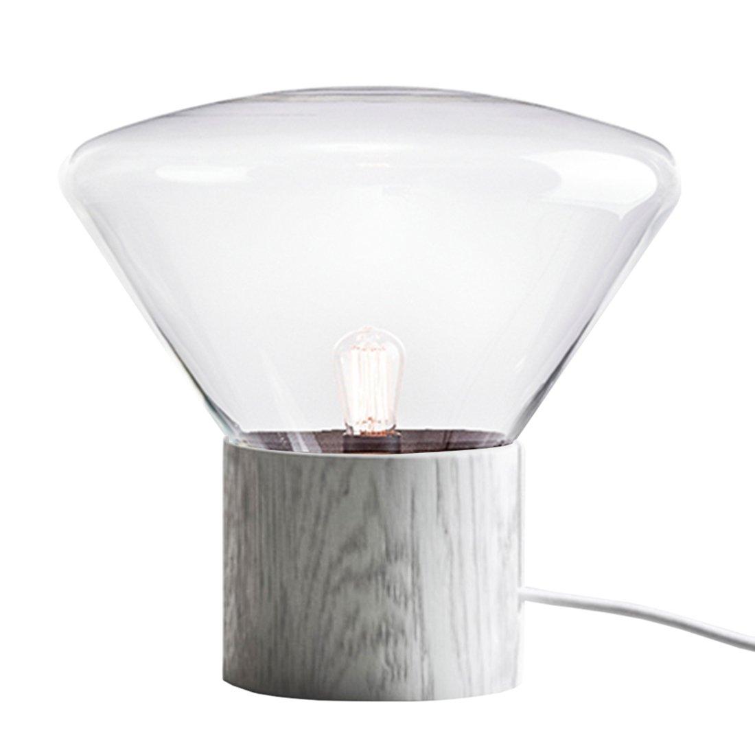 Brokis Muffin Large Tafellamp Transparant - Wit Eiken