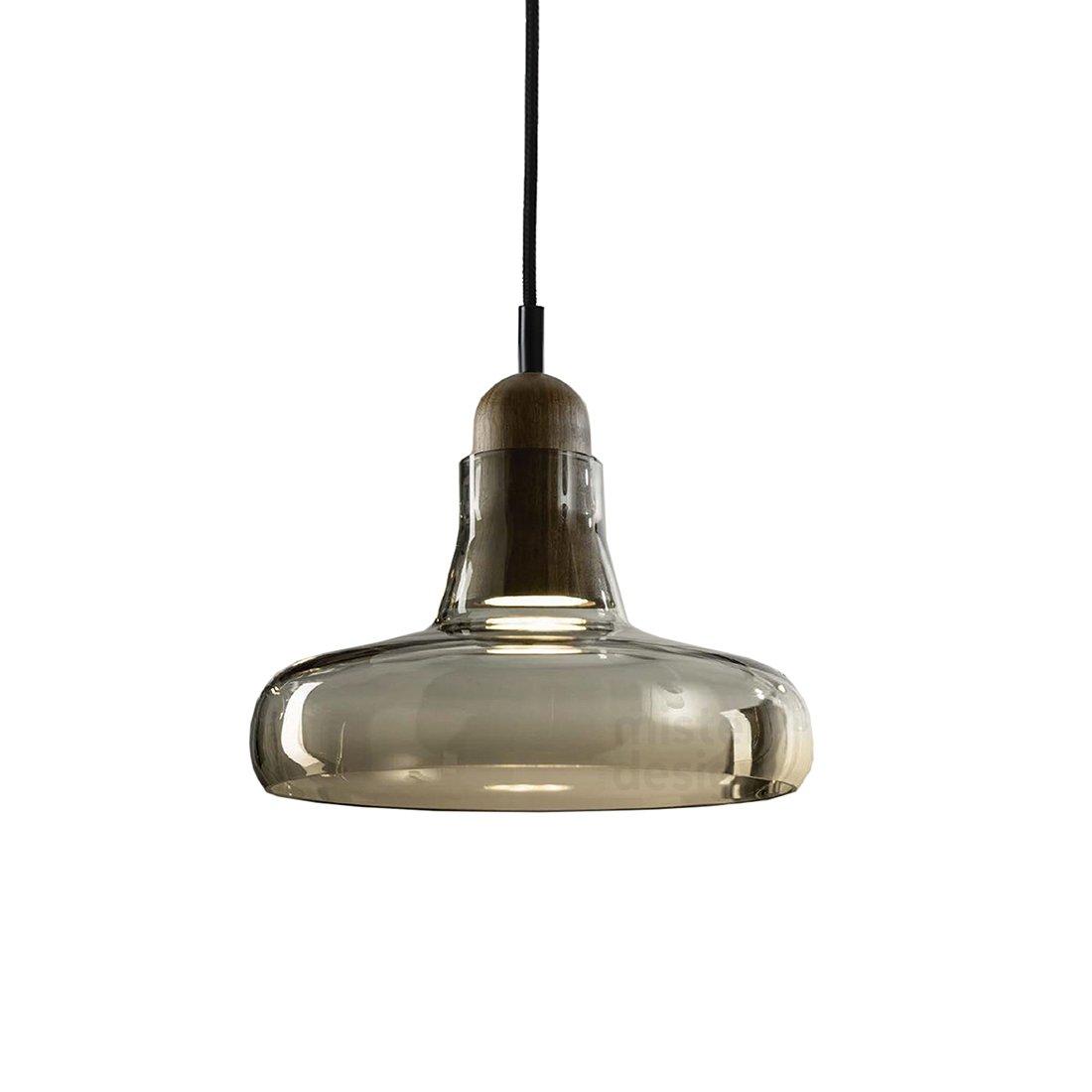 Brokis Shadow Wide Hanglamp - American Walnut Glossy Smoke Brown
