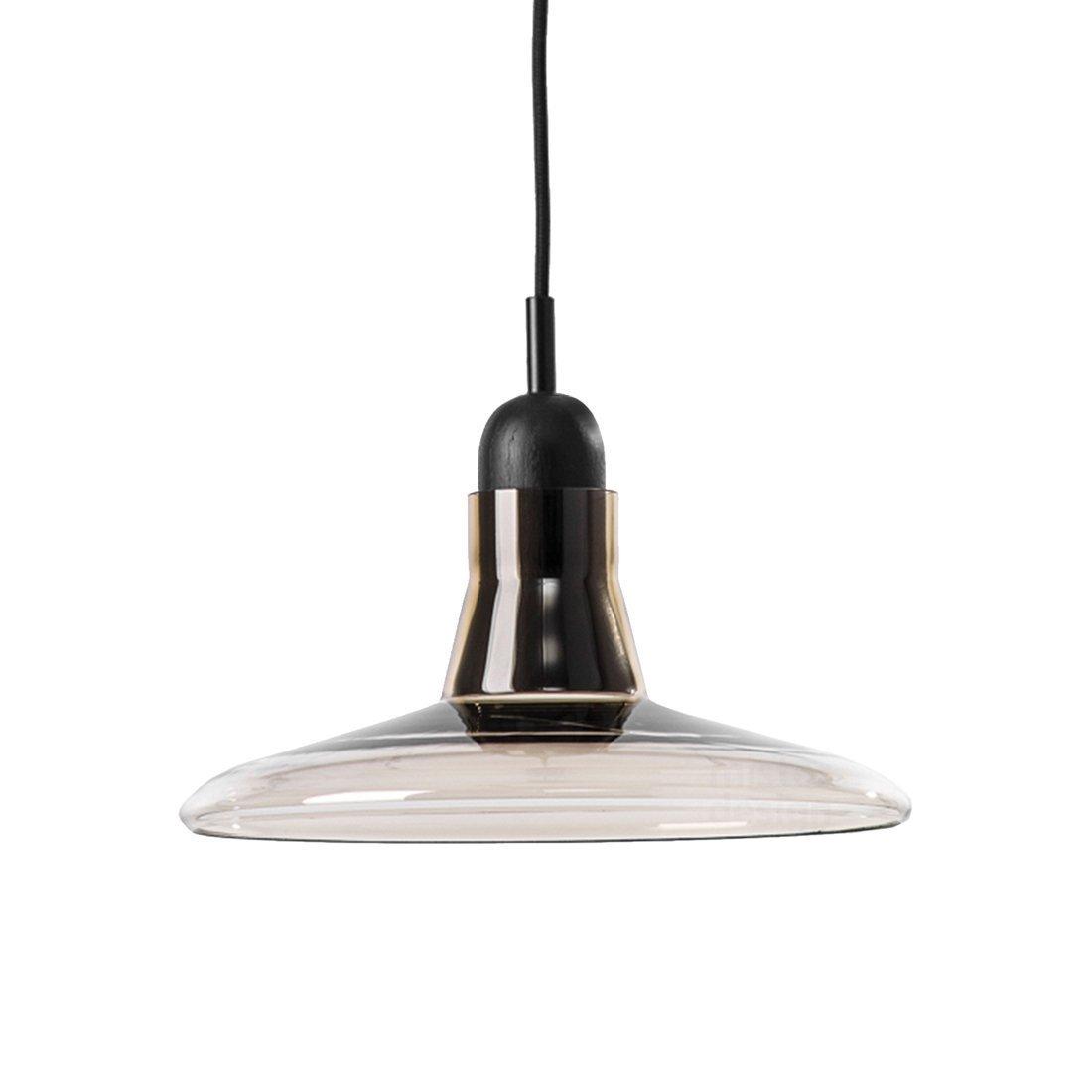Brokis Shadow Flat Hanglamp - Zwart Eiken Glossy Smoke Brown